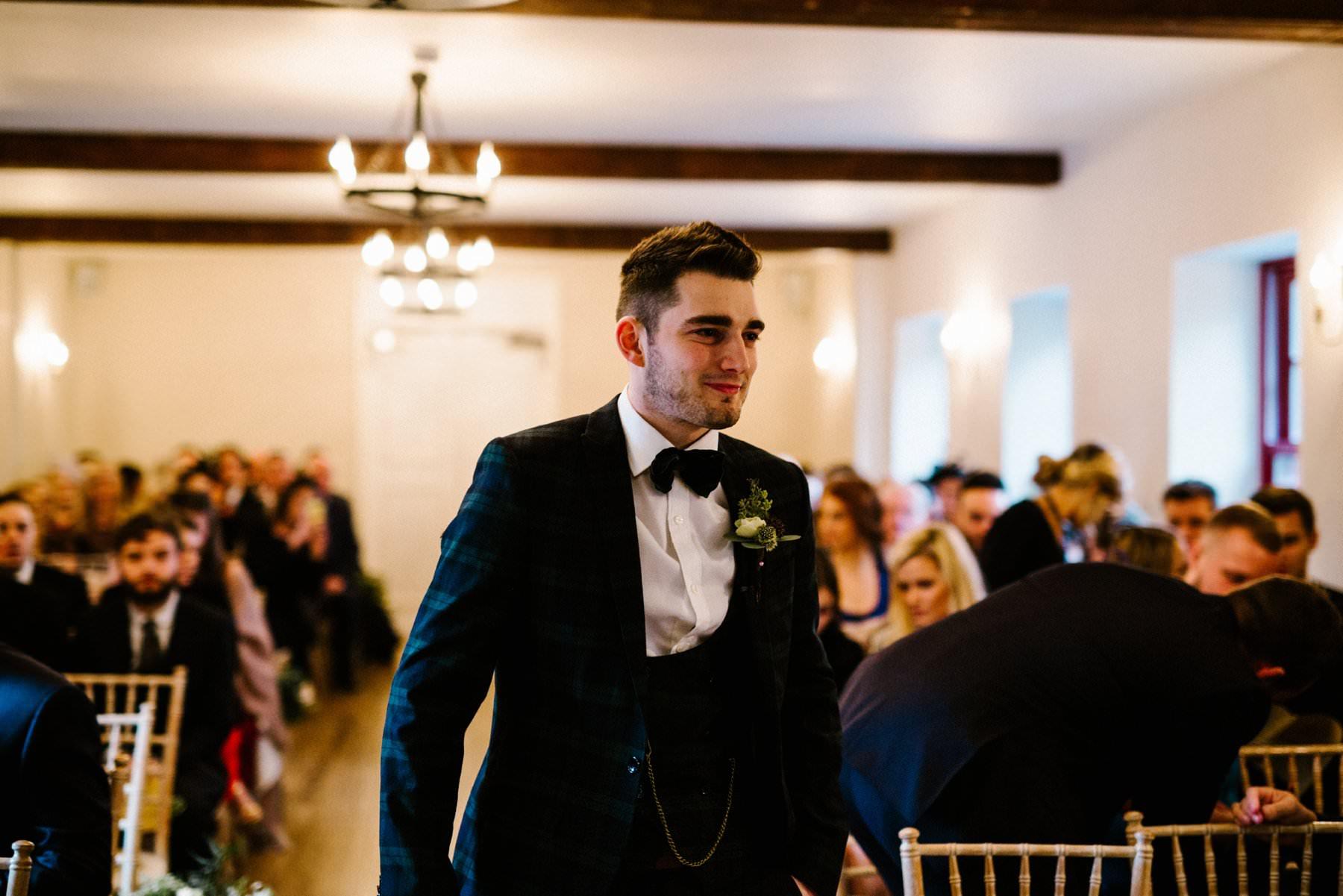 Dapper groom on his wedding day