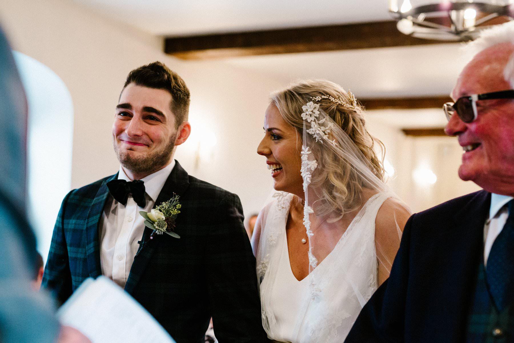 happy couple at Larchfield estate