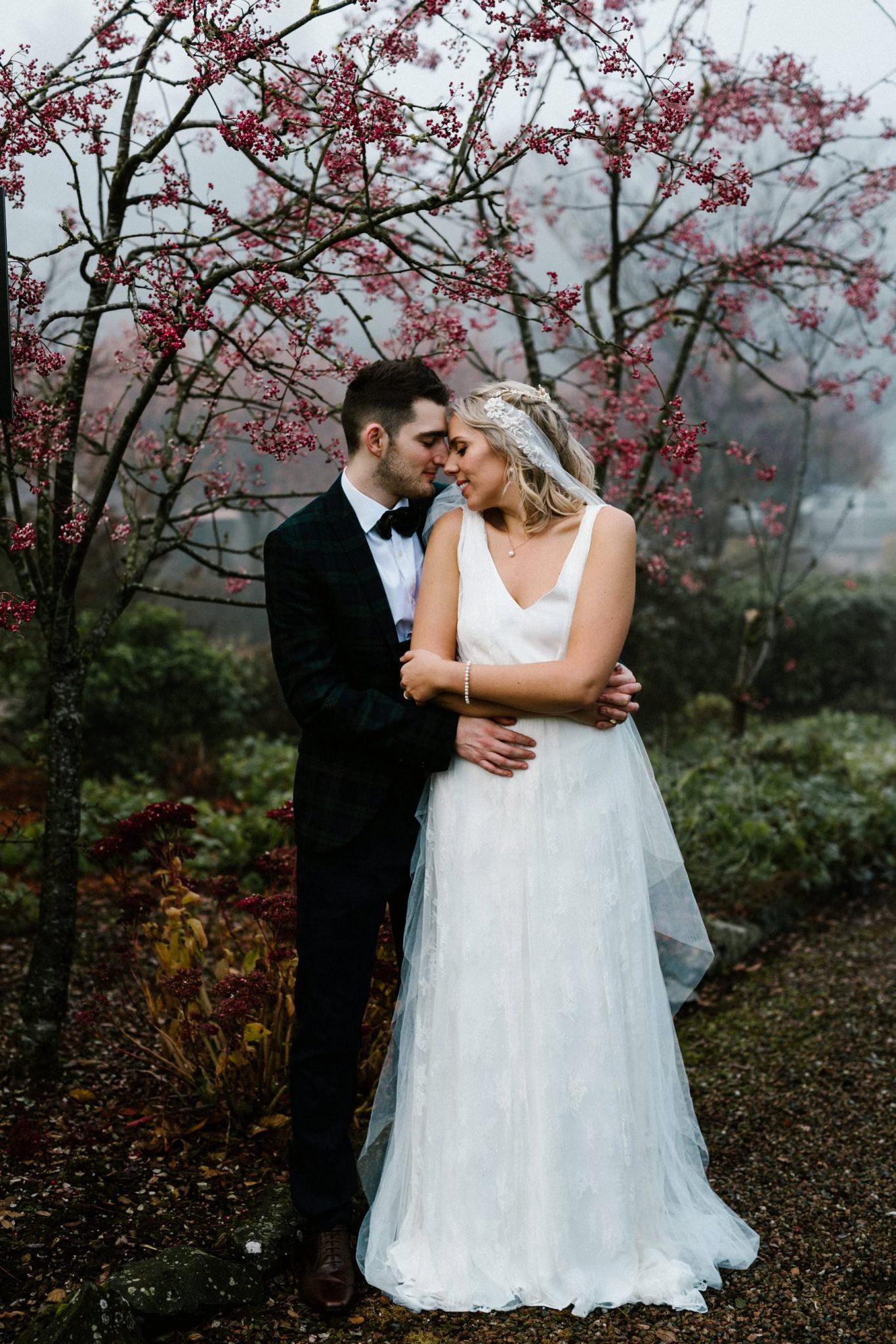 foggy winter wedding in ireland