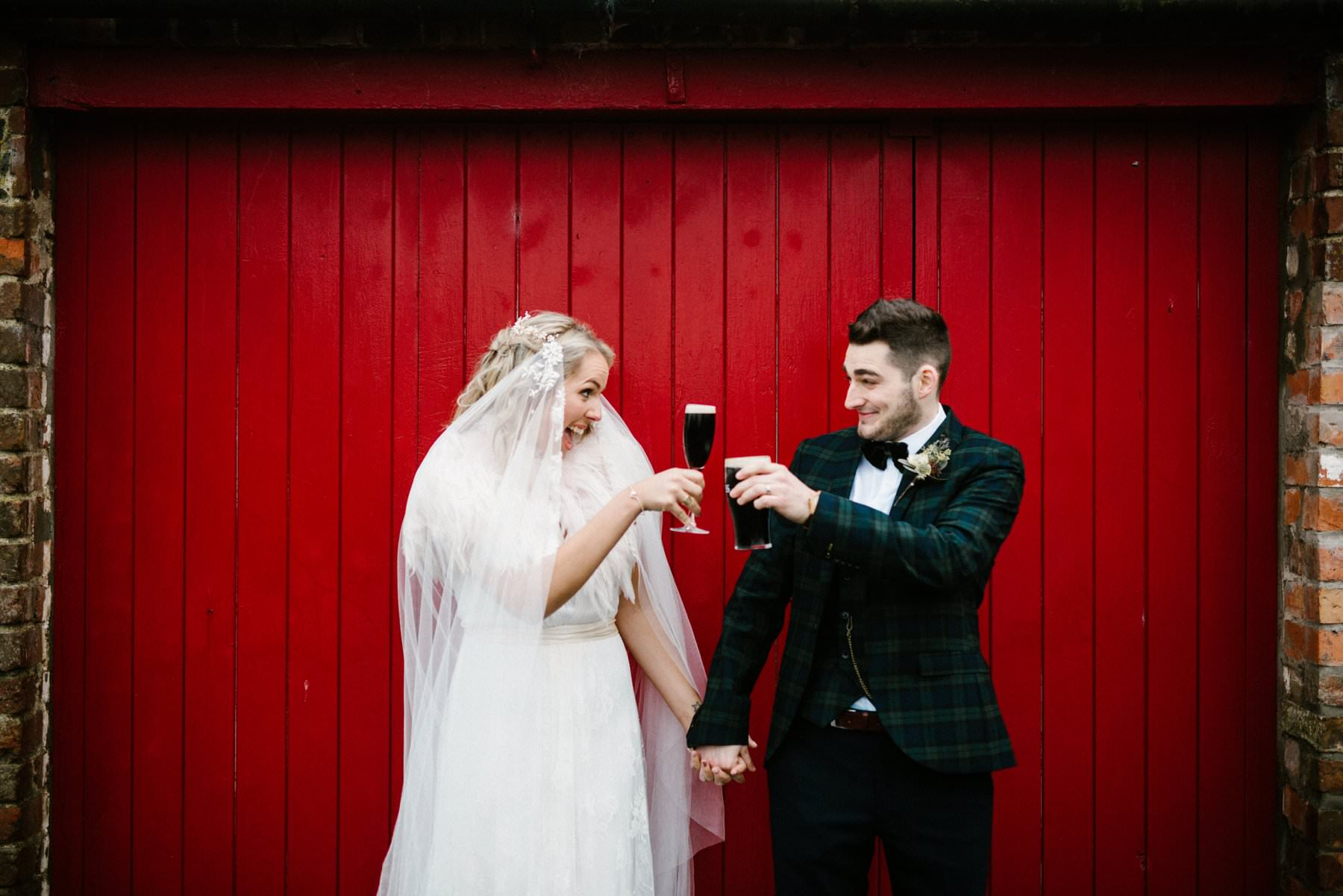 Guinness in wedding portraits northern ireland