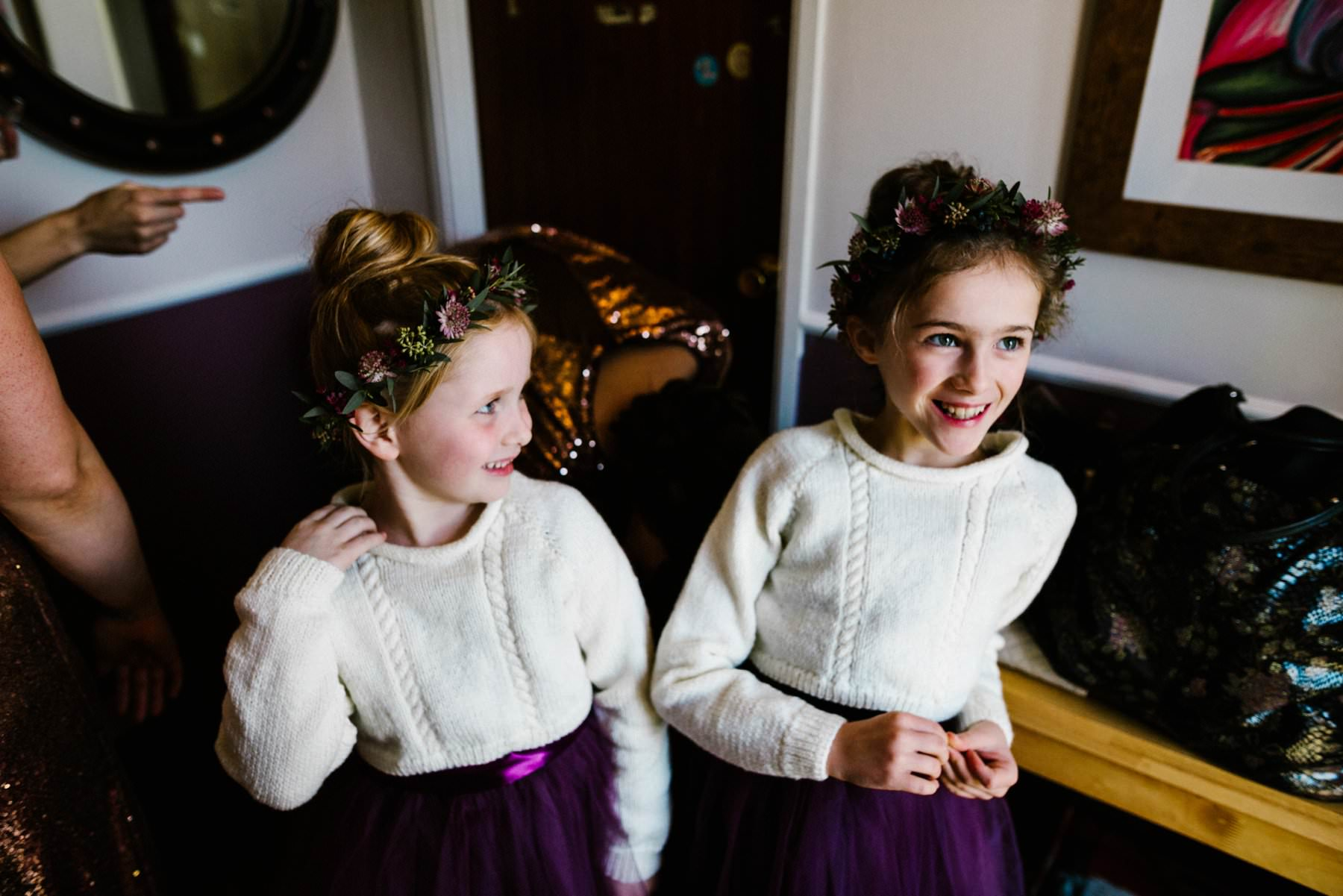 flower girls wedding photographer northern ireland