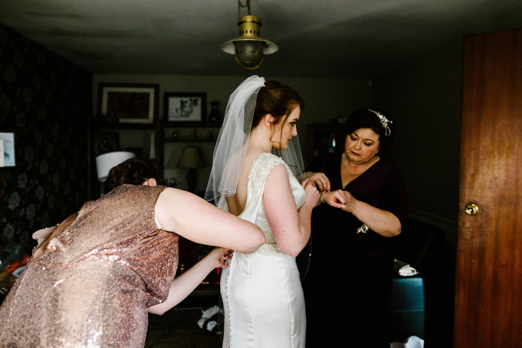 bride getting ready for her wedding photography northern ireland