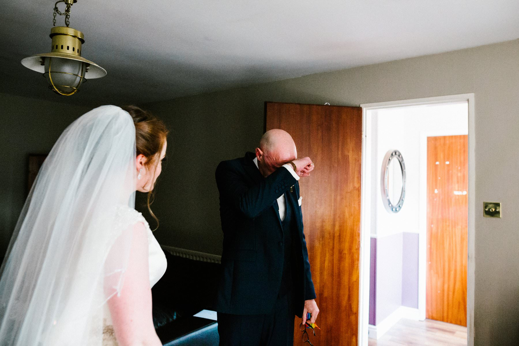 emotionally charged moment when FOB sees his daughter wedding photographer northern ireland