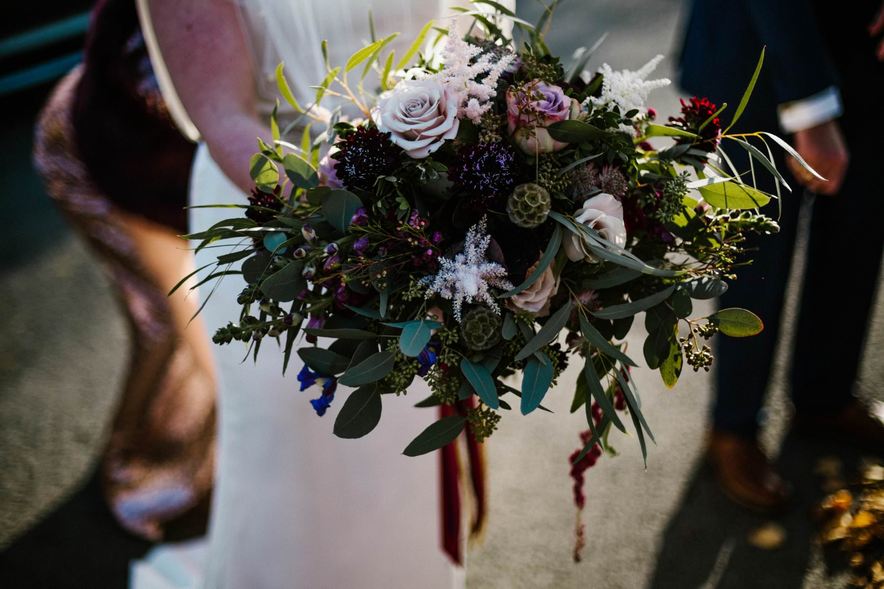 brides bouquet autumnal colour pallet wedding photographer