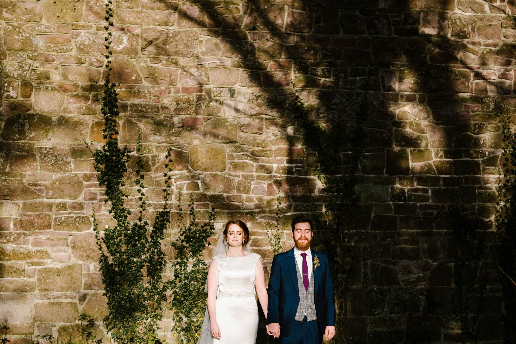 light and shadow wedding portraits ireland