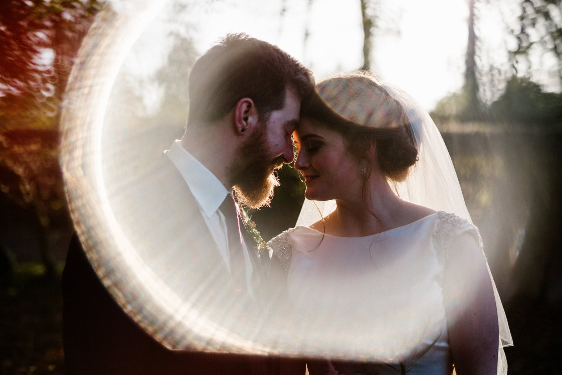 lens flare wedding photography northern ireland