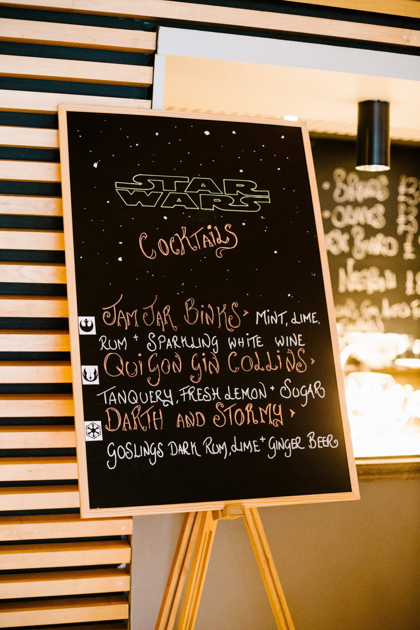 star wars cocktail chalkboard wedding ideas photography northern ireland