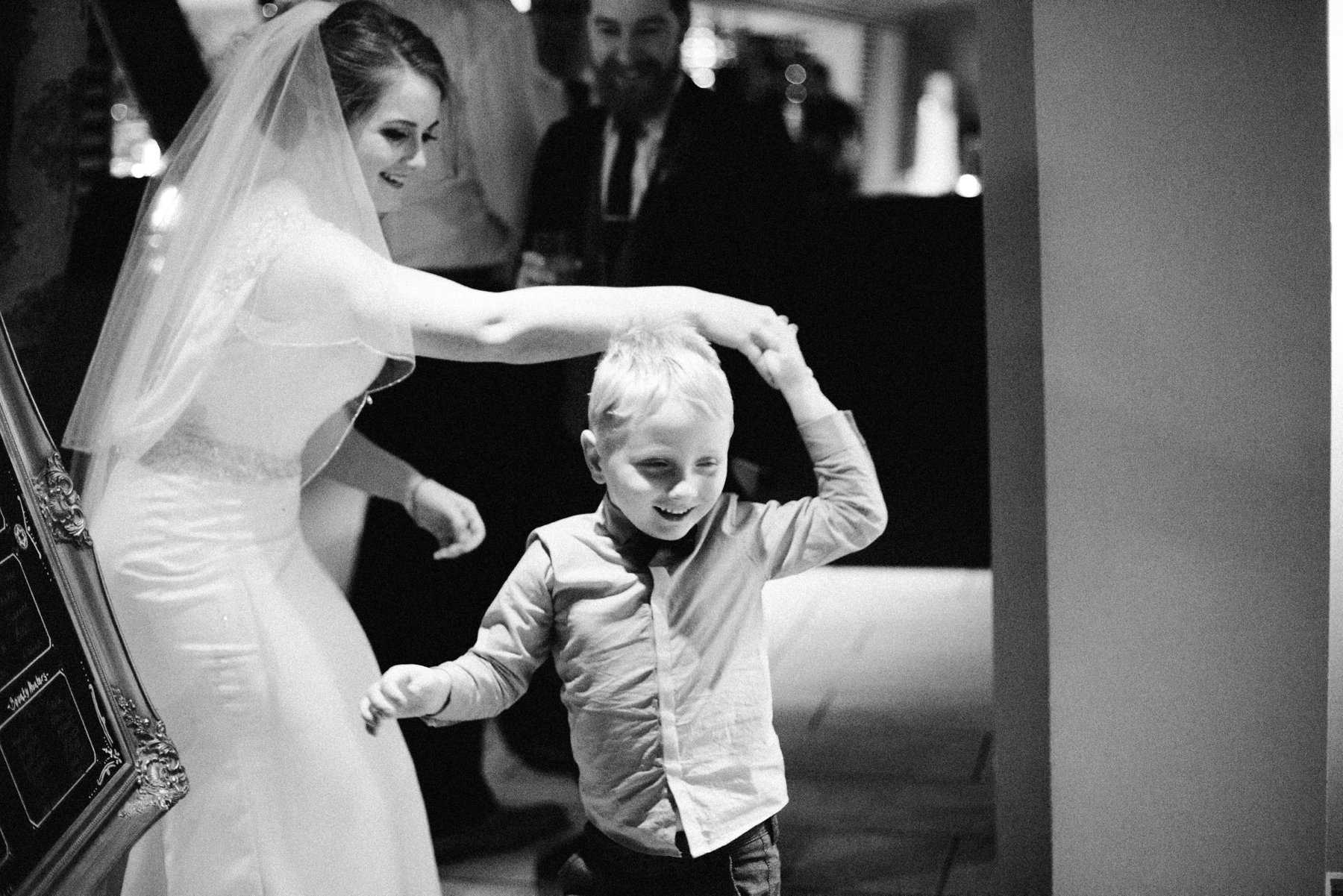 bride dancing with nephew wedding photographer northern ireland
