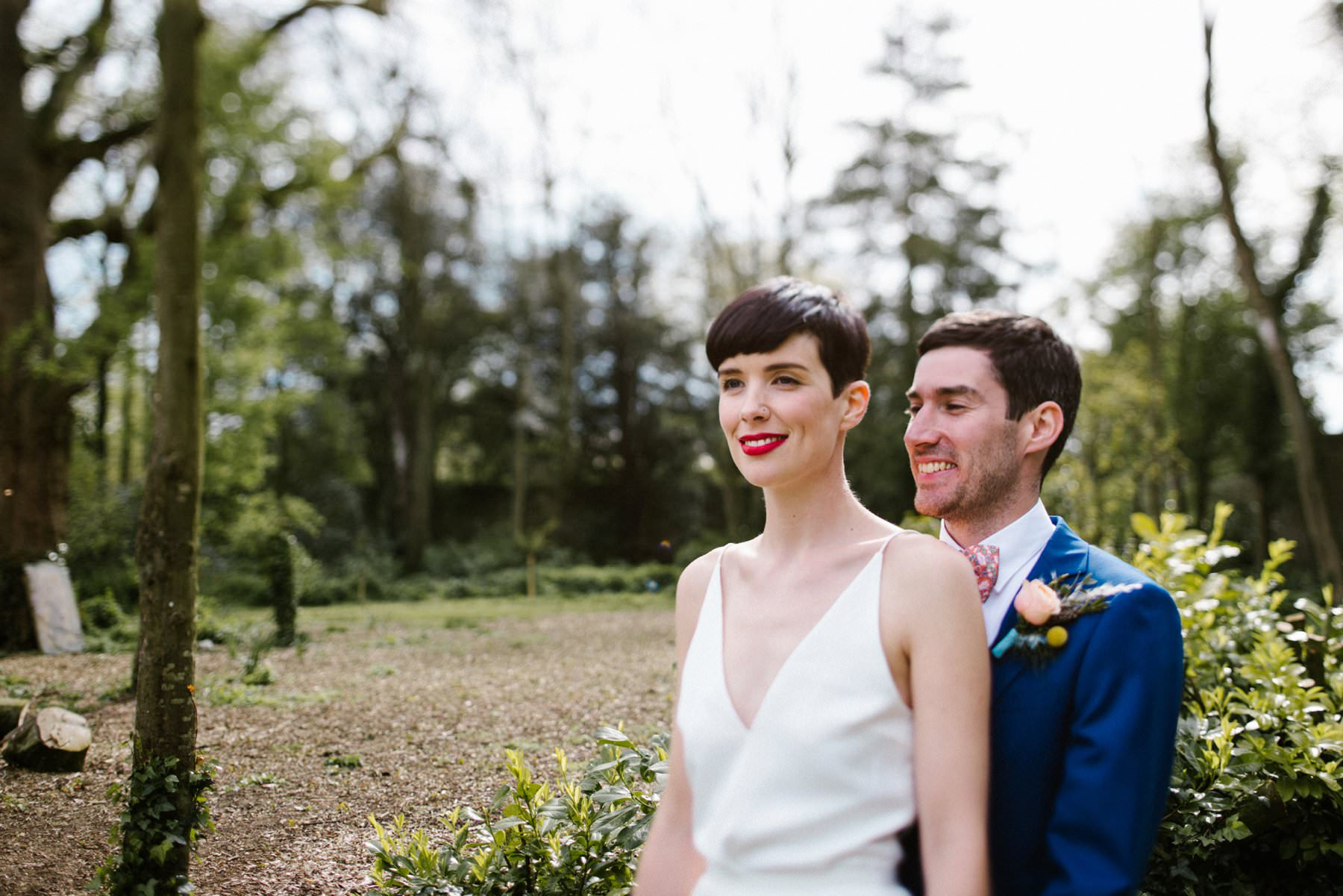 tipperary wedding photography of bride with short hair