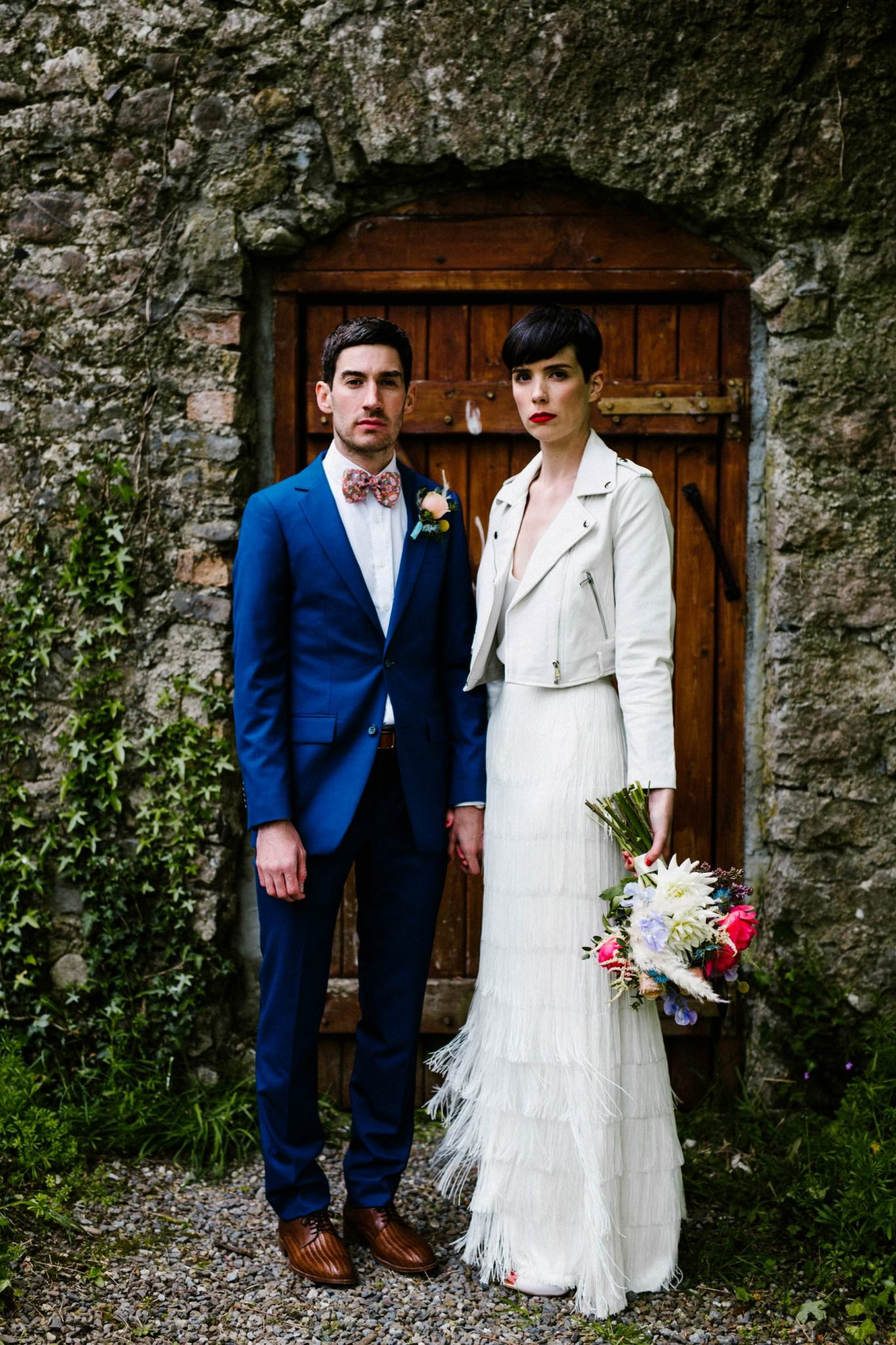 cool af wedding portrait ireland