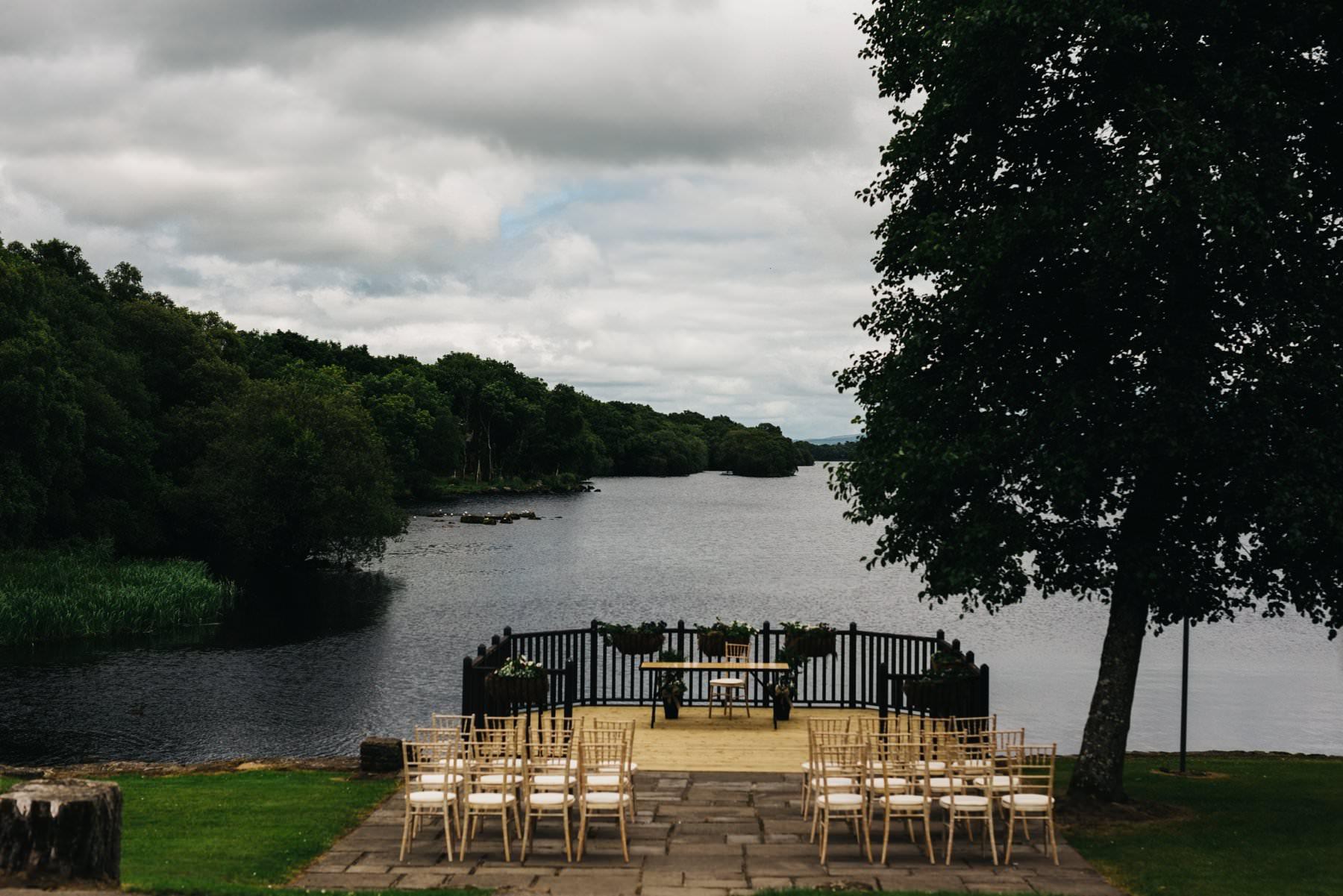 lusty beg outdoor wedding ceremony ireland