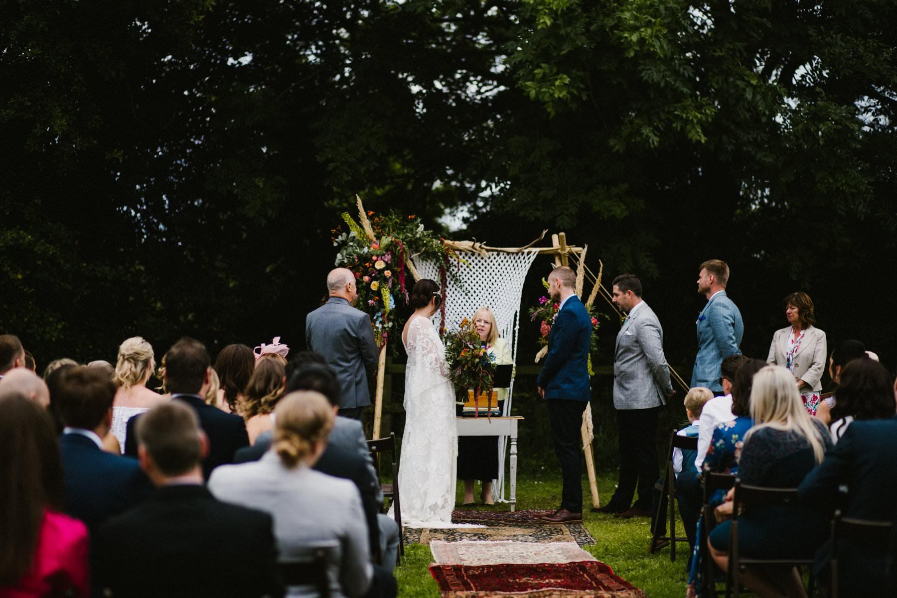 outdoor wedding ceremony norfolk