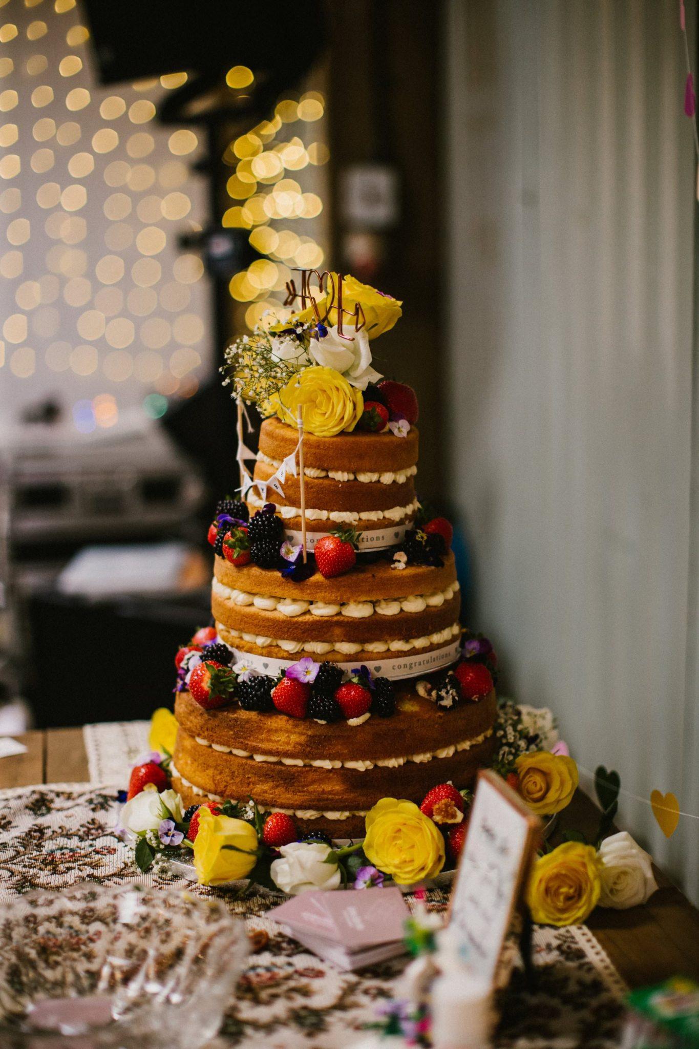 naked wedding cake wedding photo norfolk