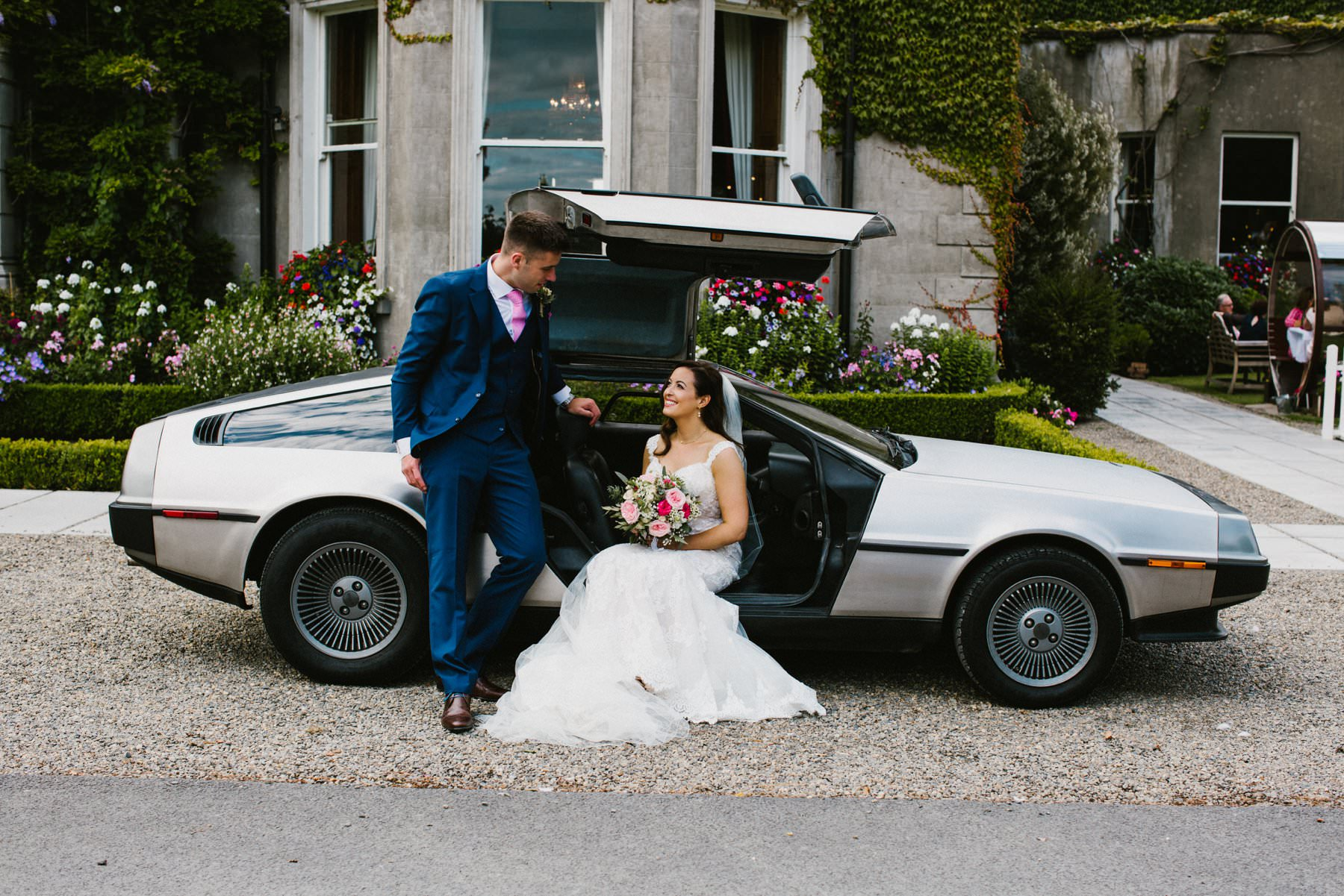 delorean wedding photography dublin
