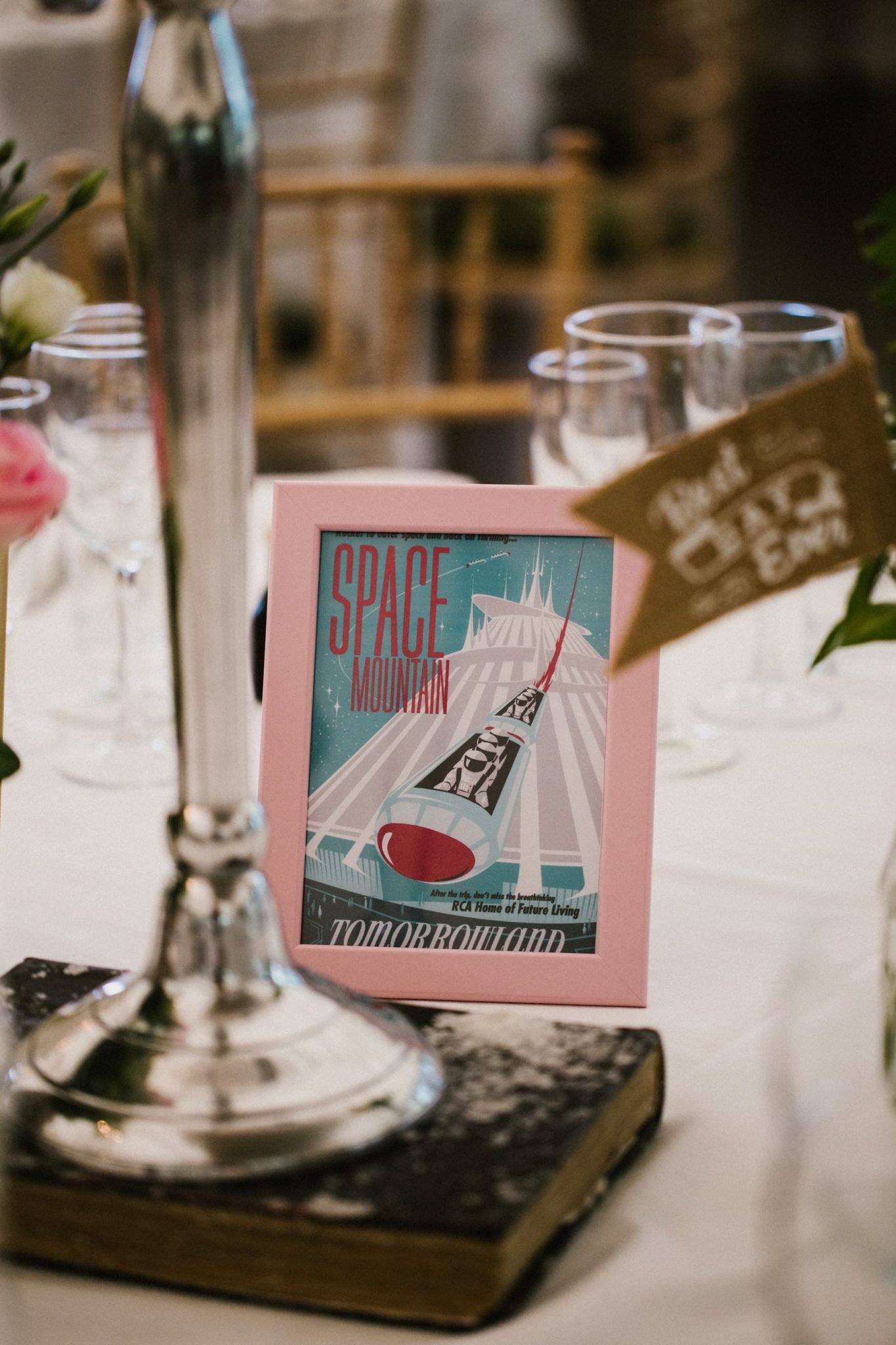disney themed table number wedding photography ireland