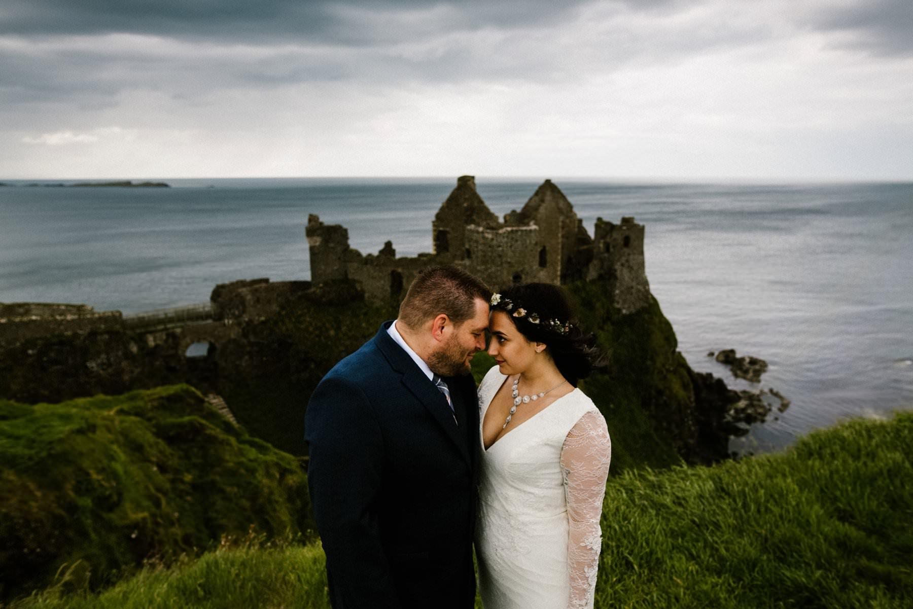elopement photography dunluce castle