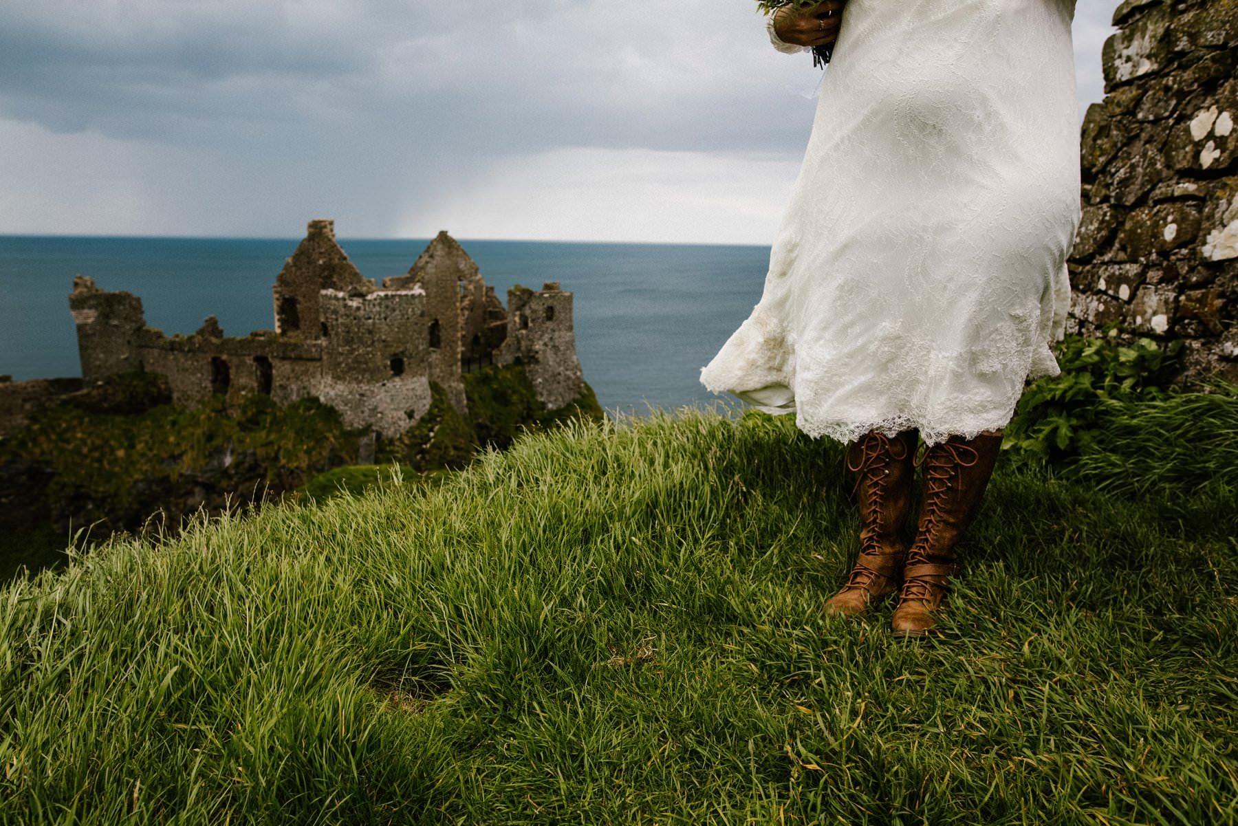 dunluce castle elopement photography