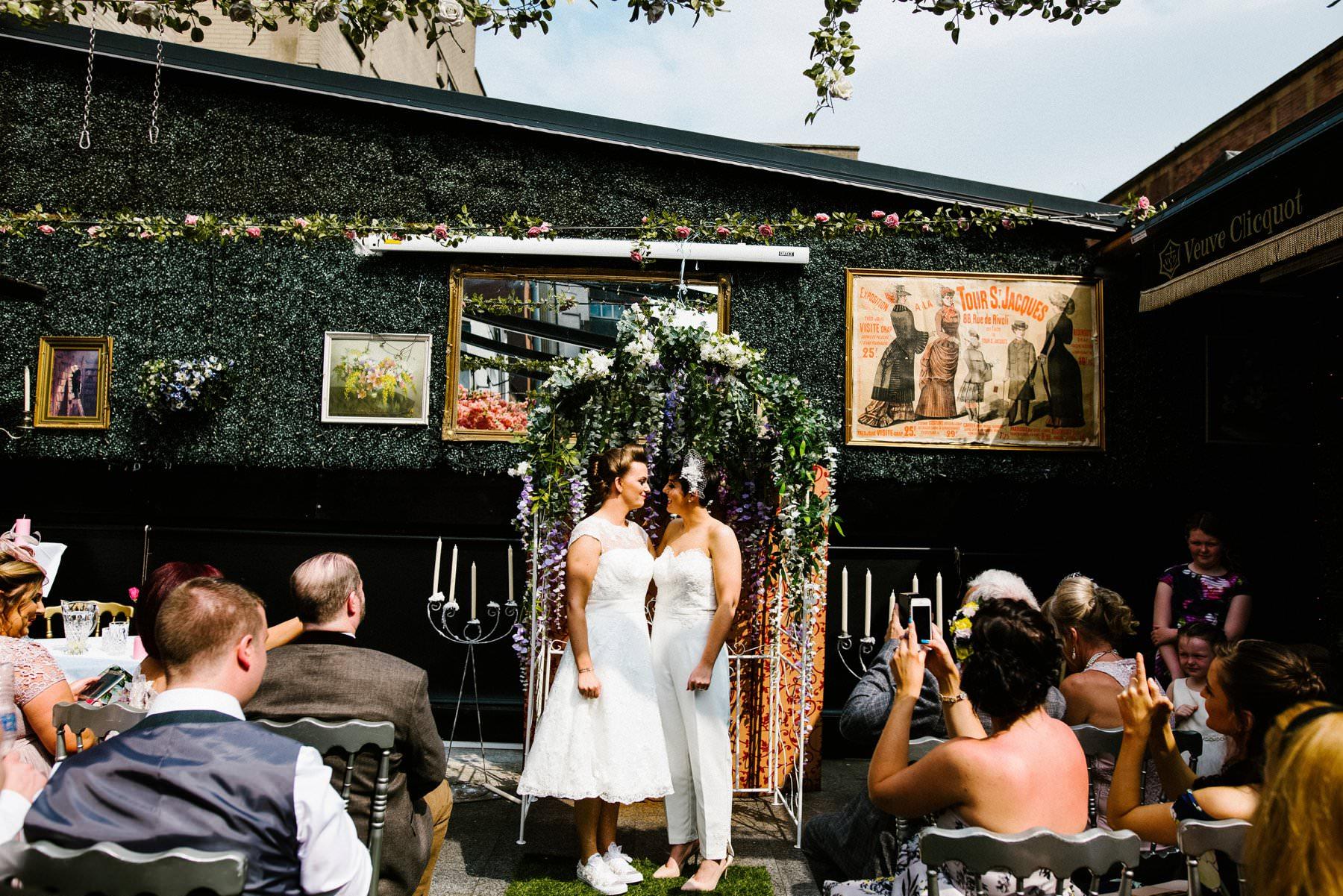 treehouse belfast same sex wedding photography