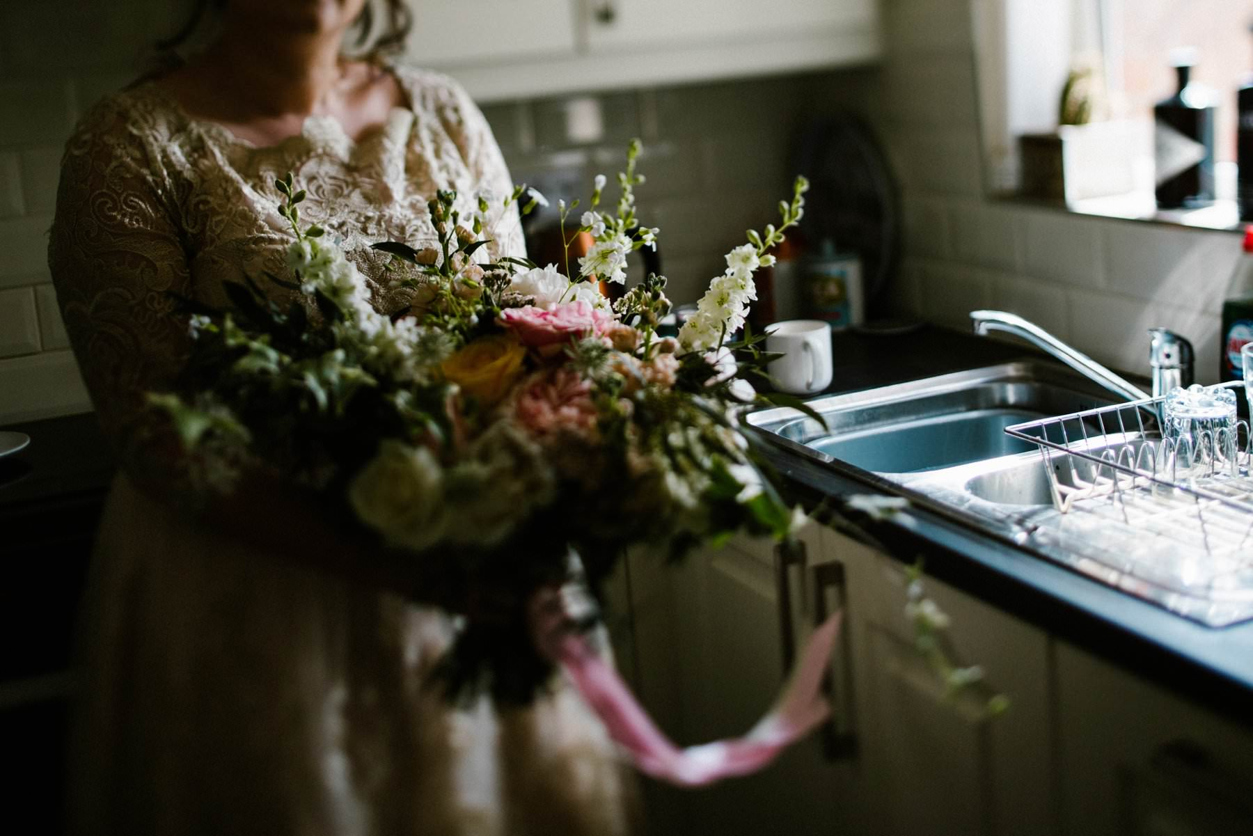 bride holding bouquet, wedding photographer northern ireland