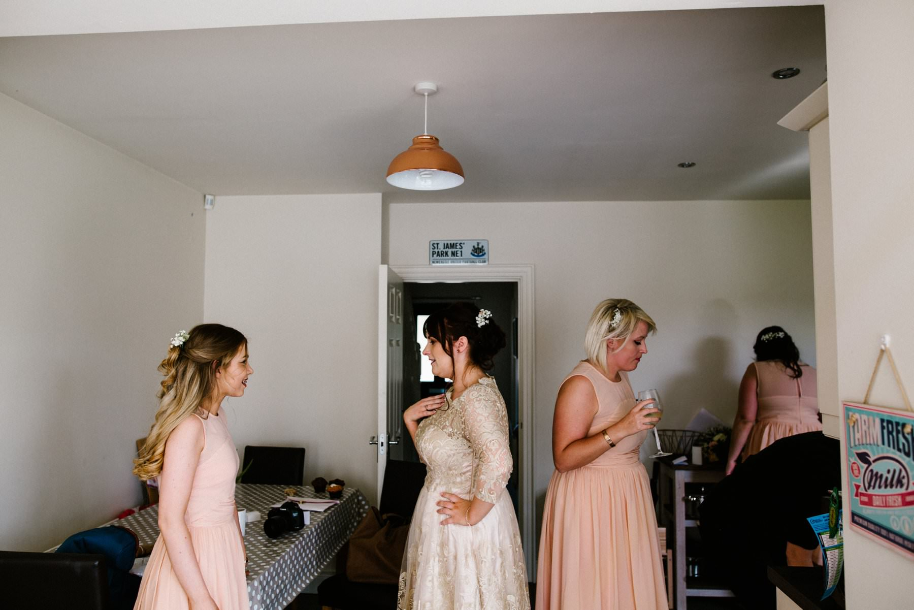 bride with bridesmaids, wedding photographer northern ireland