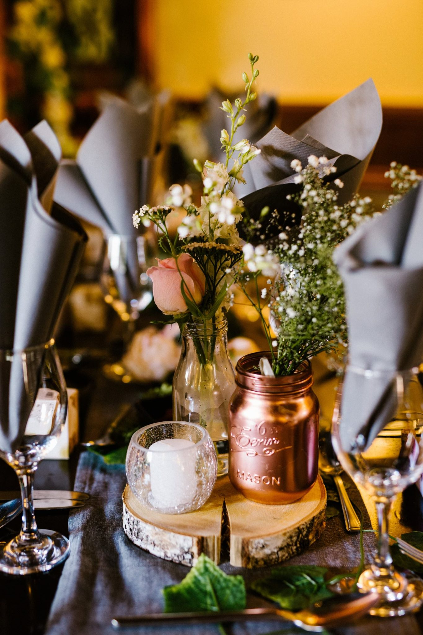 wedding reception table decor inspiration, wedding photographer northern ireland