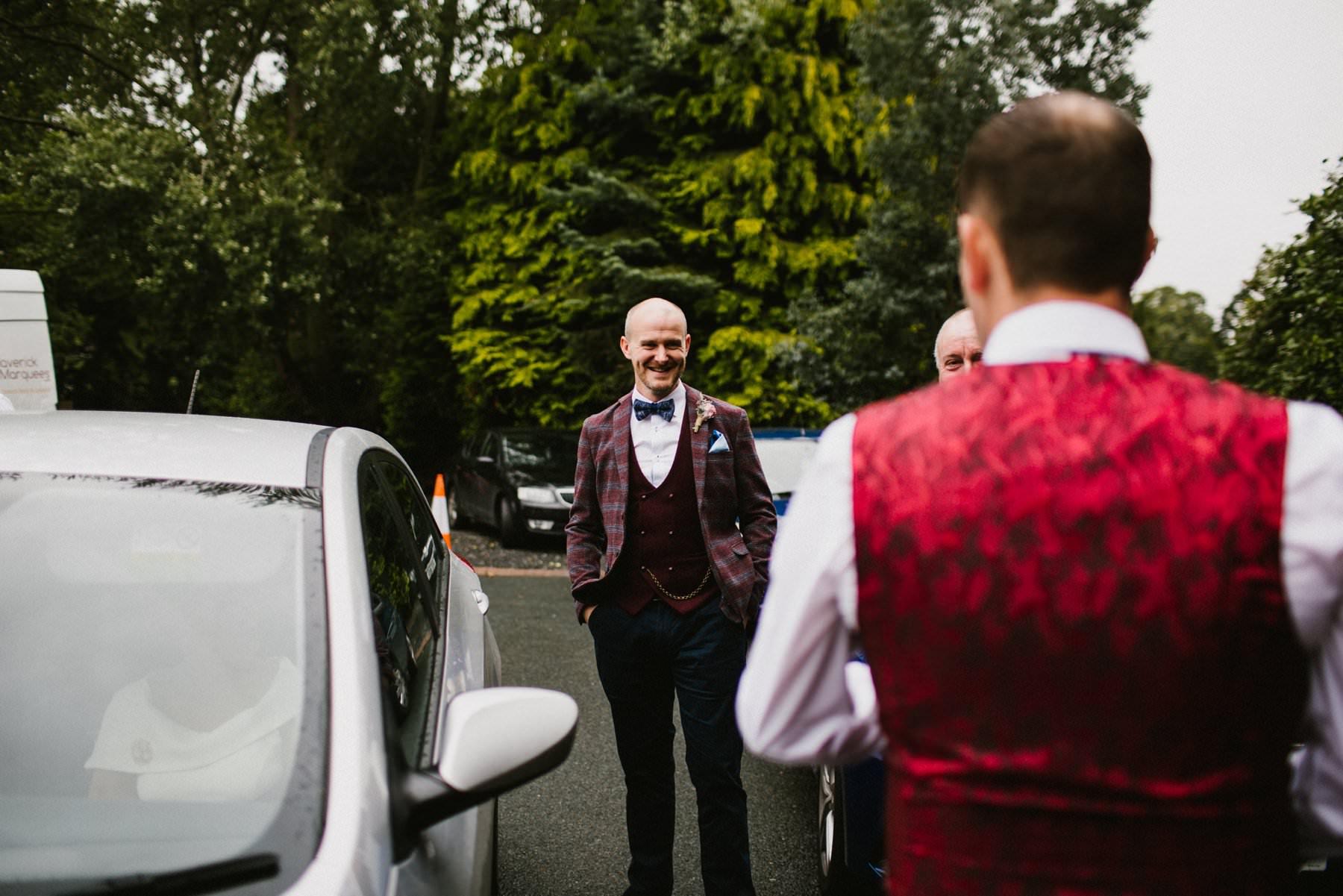 groom waits to get married in lurgan northern ireland