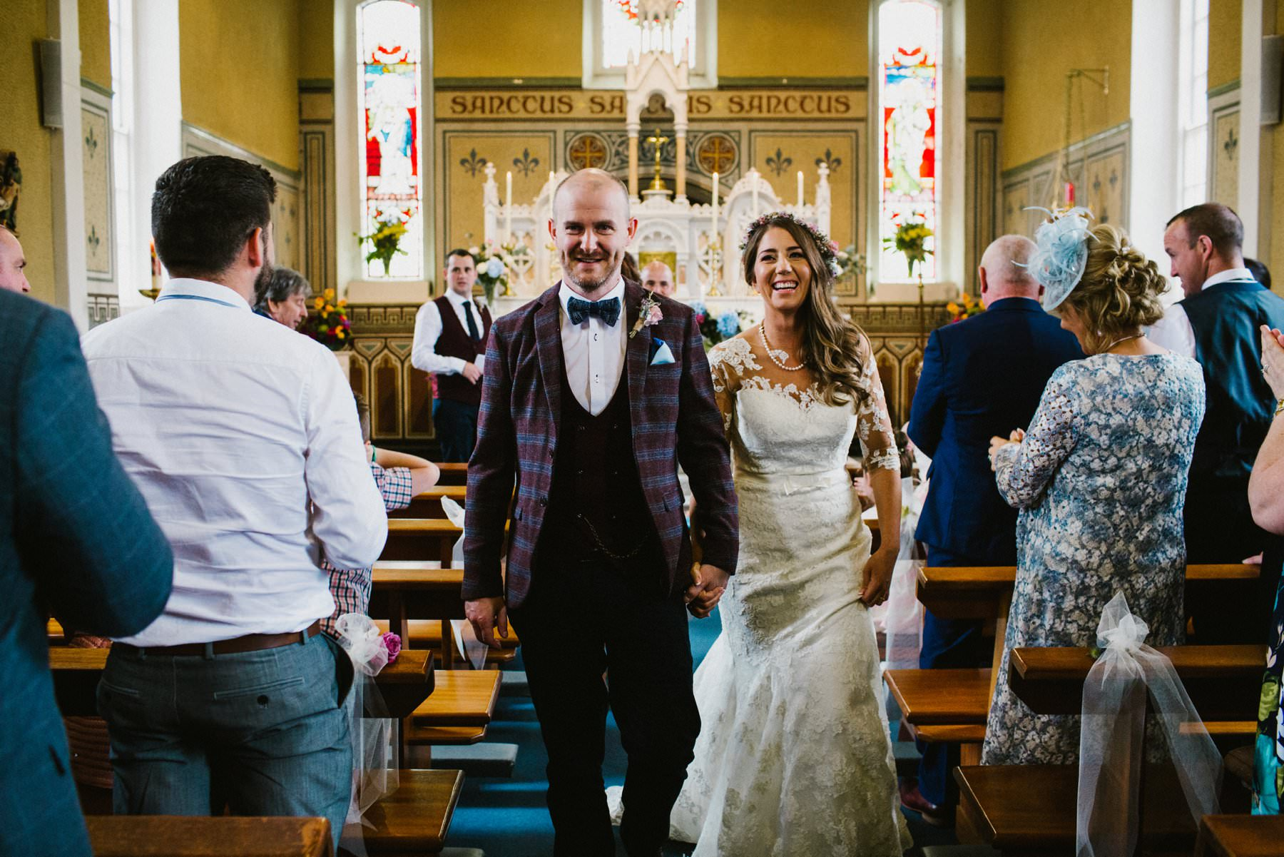 just married irish wedding photographer
