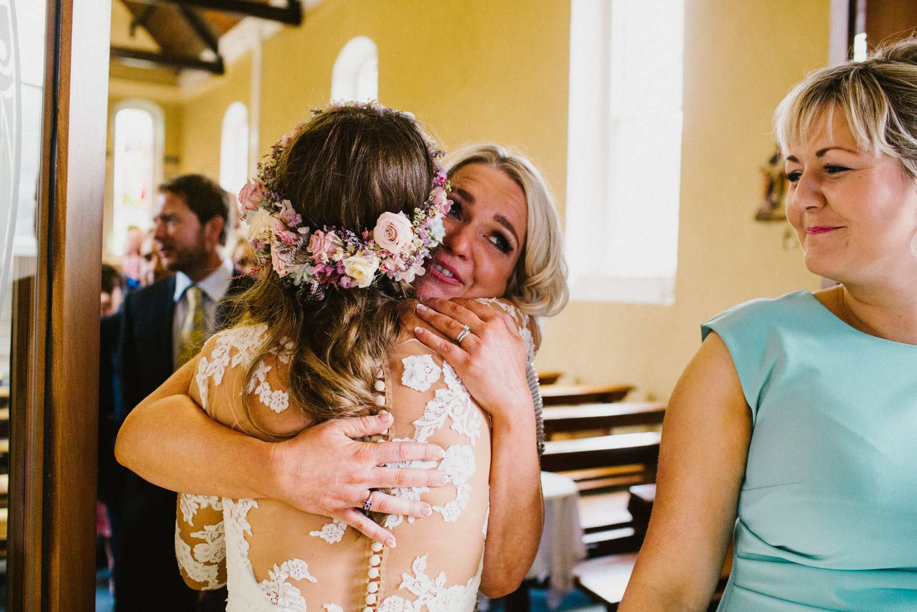 emotional moment wedding photographer northern ireland