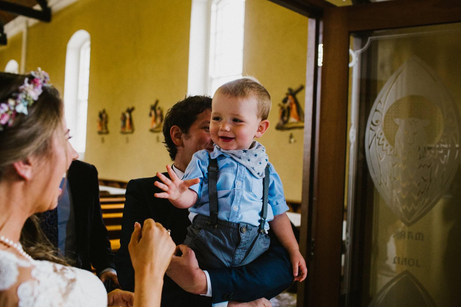 cute baby at wedding northern ireland