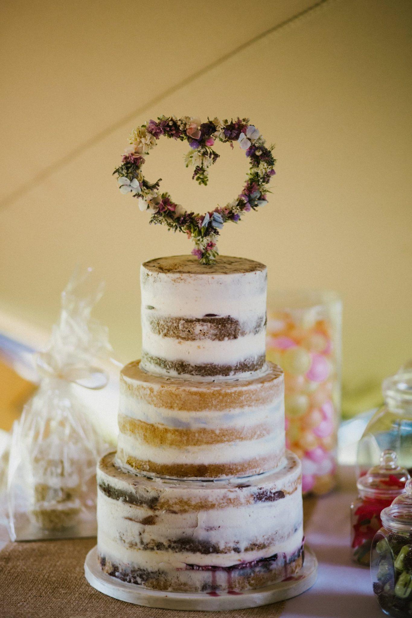 naked wedding cake in northern ireland