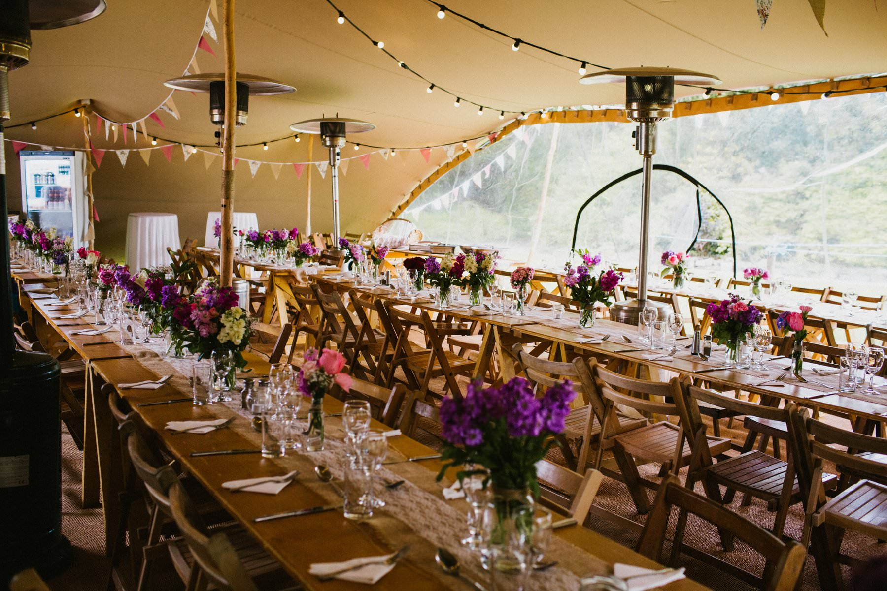 spectacular set up of tipi in northern ireland
