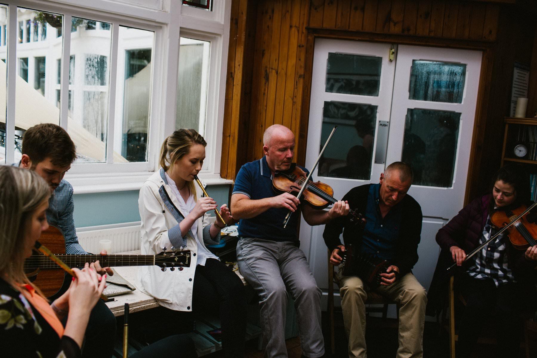 trad band at wedding in northern ireland