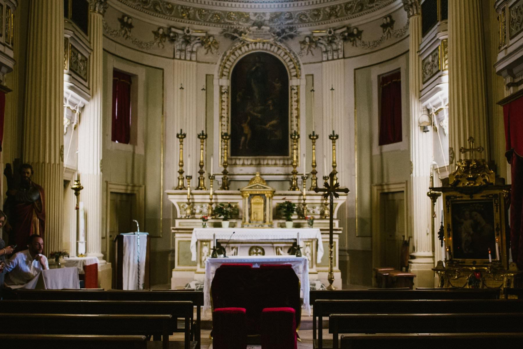 inside the chapel of petritoli italy