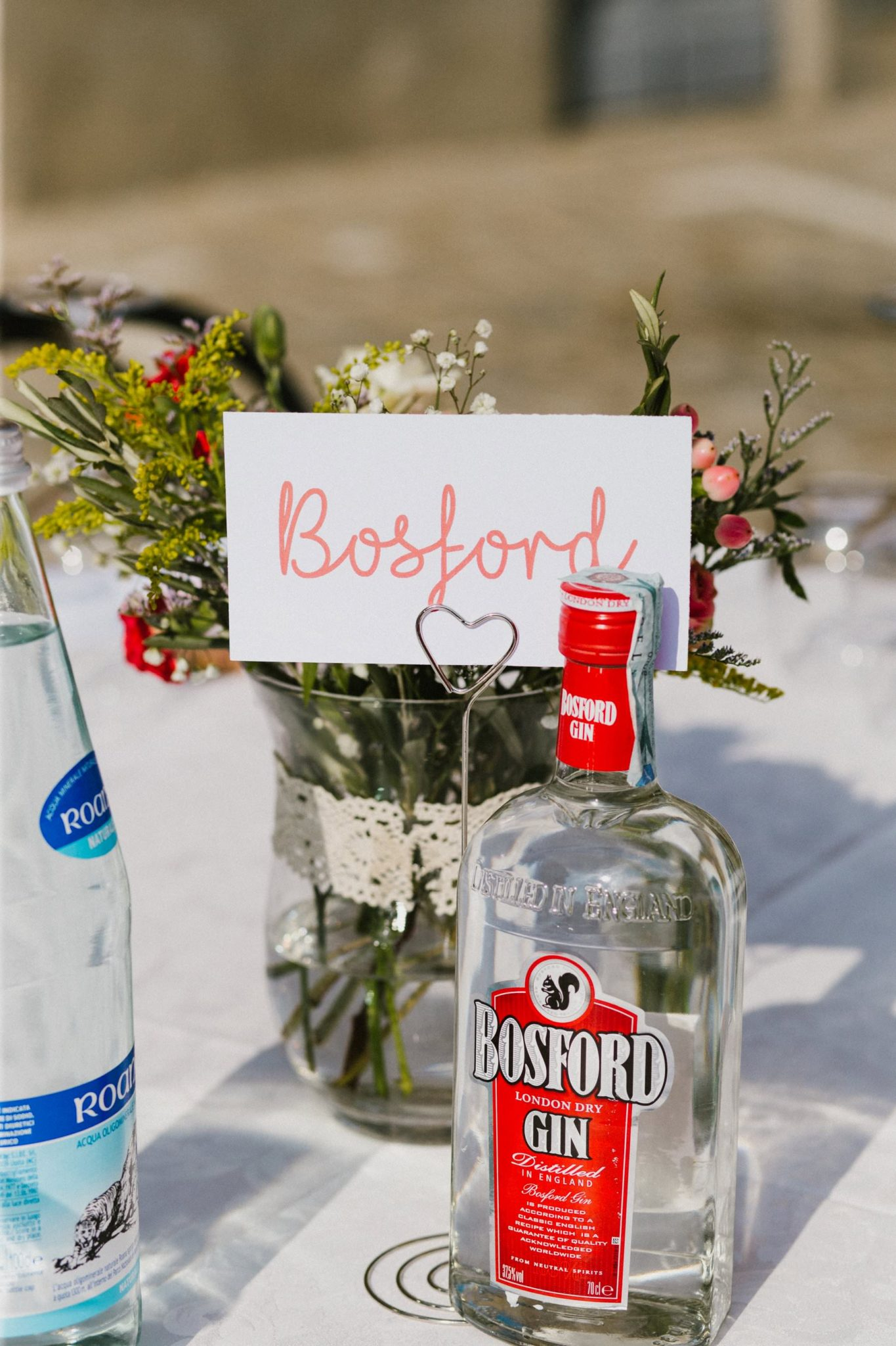 gin bar reception at italian wedding