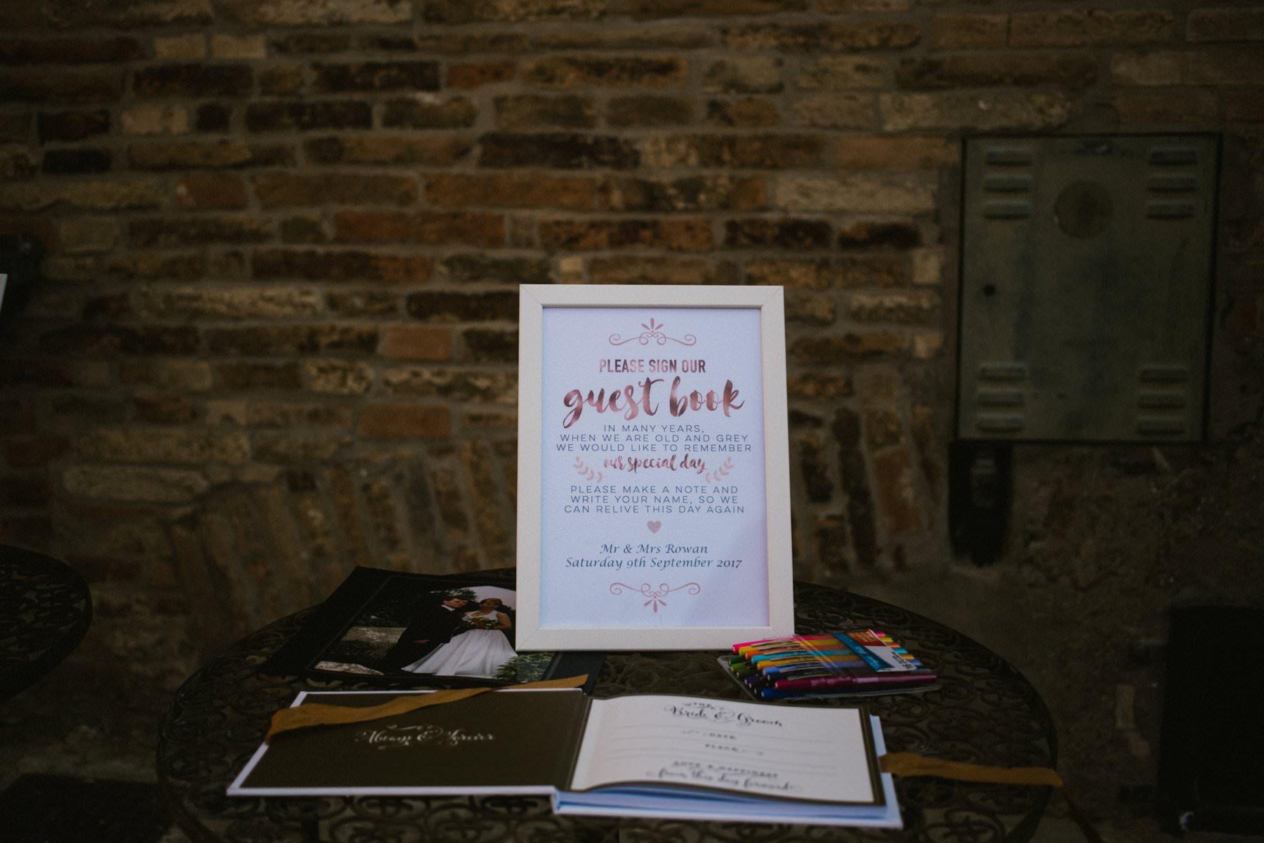 guest book at italian wedding