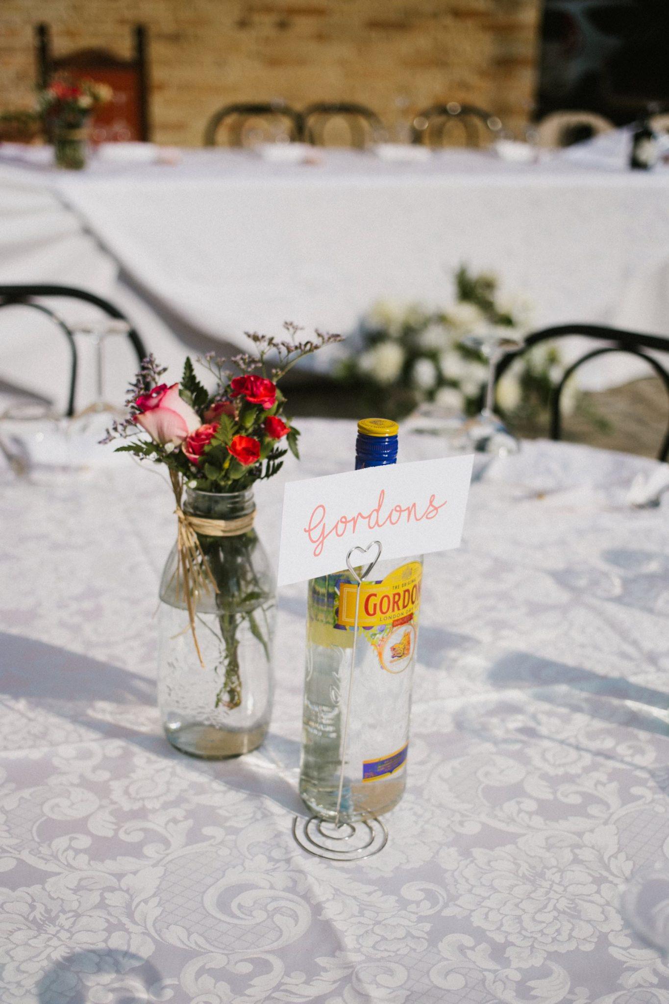 gin centre piece italian wedding