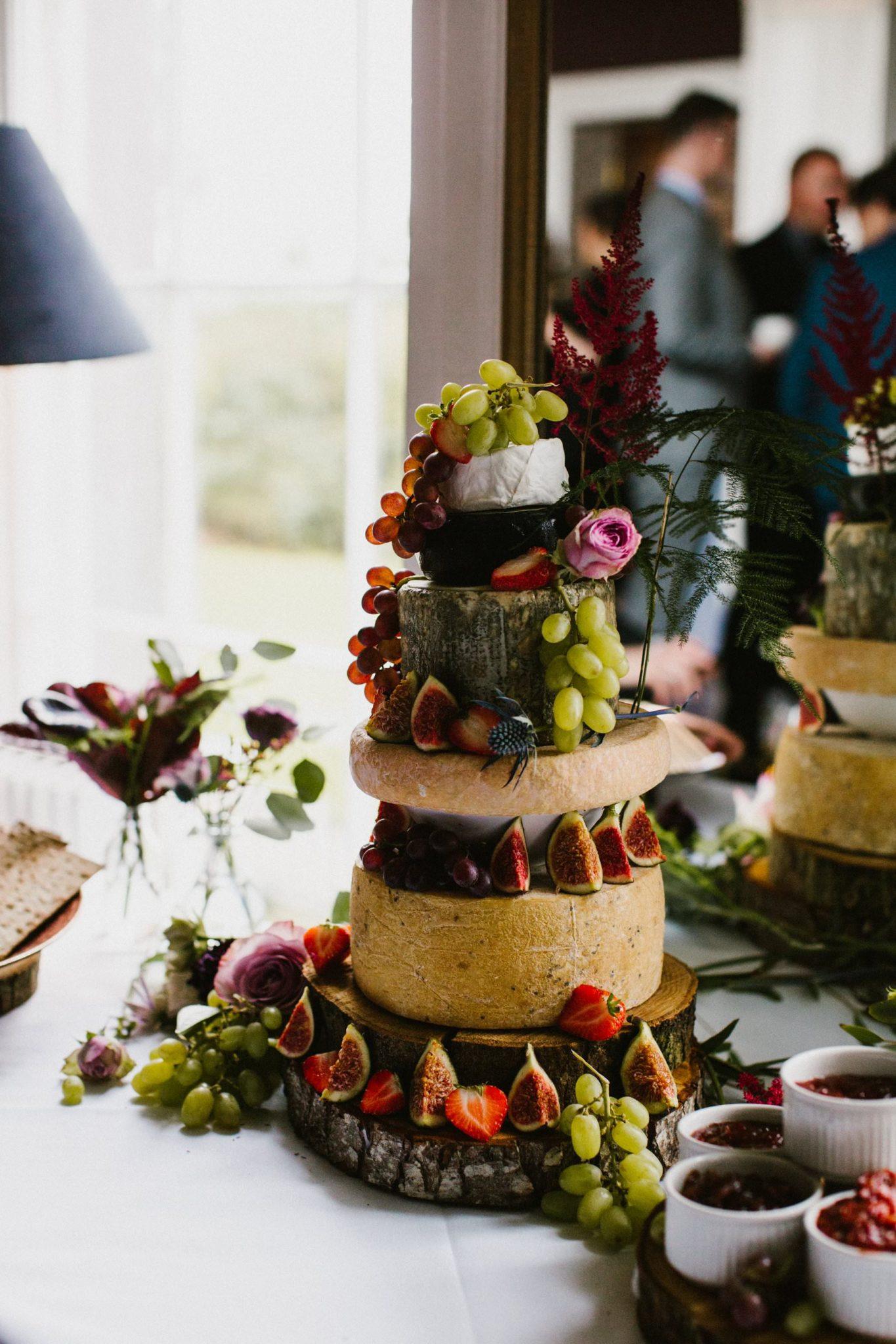 wedding cake made of cheese for same sex wedding