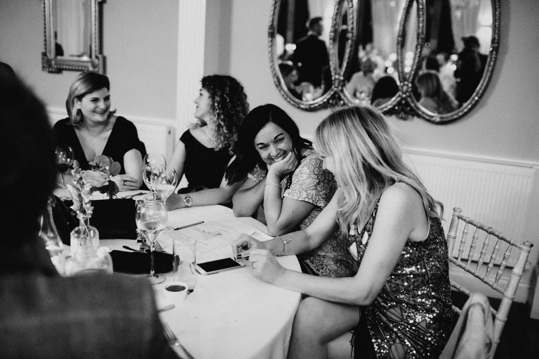 documentary wedding photography, guests laughing during speeches