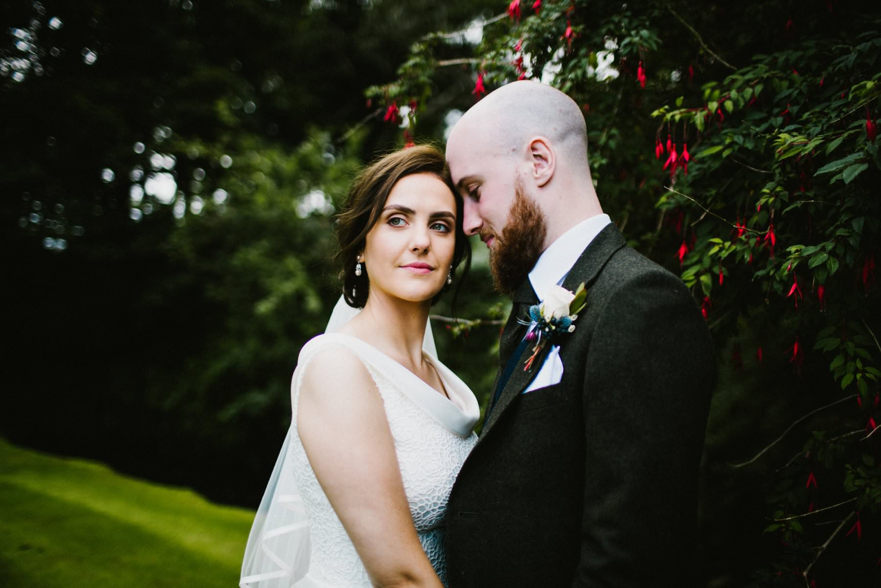 alternative wedding photographer at Ballygally Castle Hotel Northern Ireland