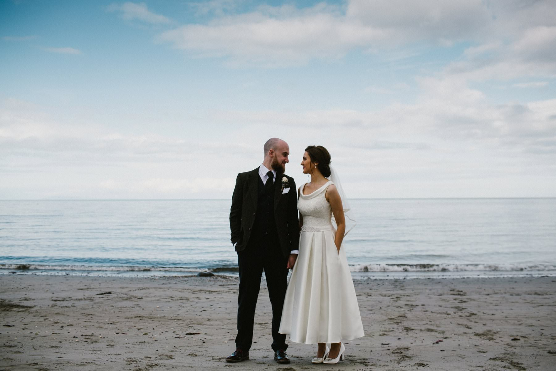 irish sea wedding photography