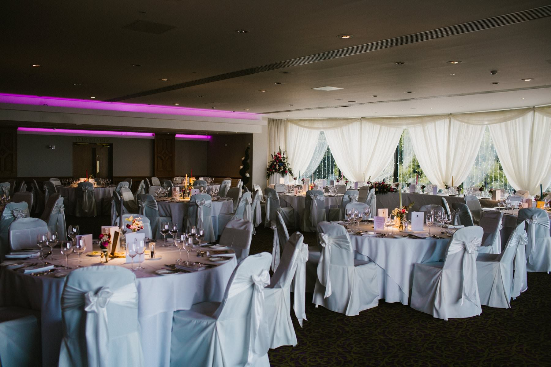 ballygally castle hotel wedding reception room