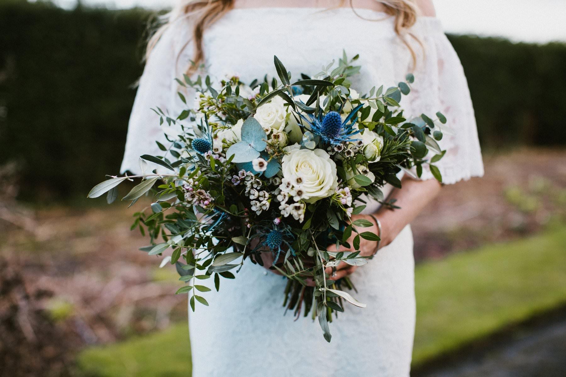 bridal bouquet wedding photography northern ireland