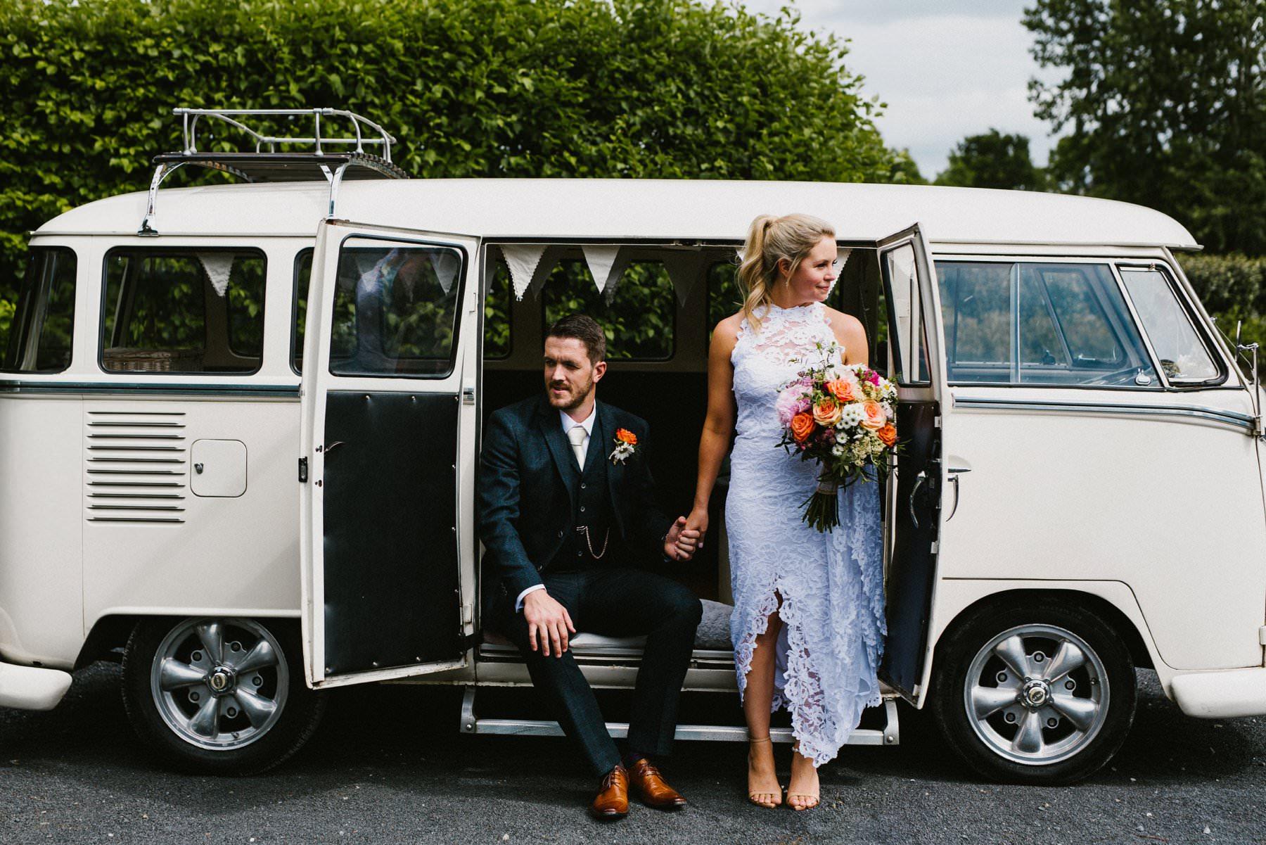 wedding photography portrait ireland volkswagen