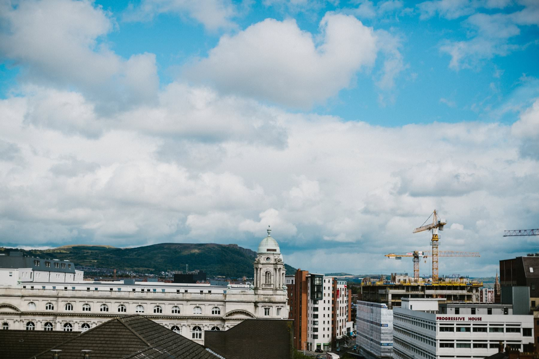 landscape of belfast from Fitzwilliam Hotel Penthouse