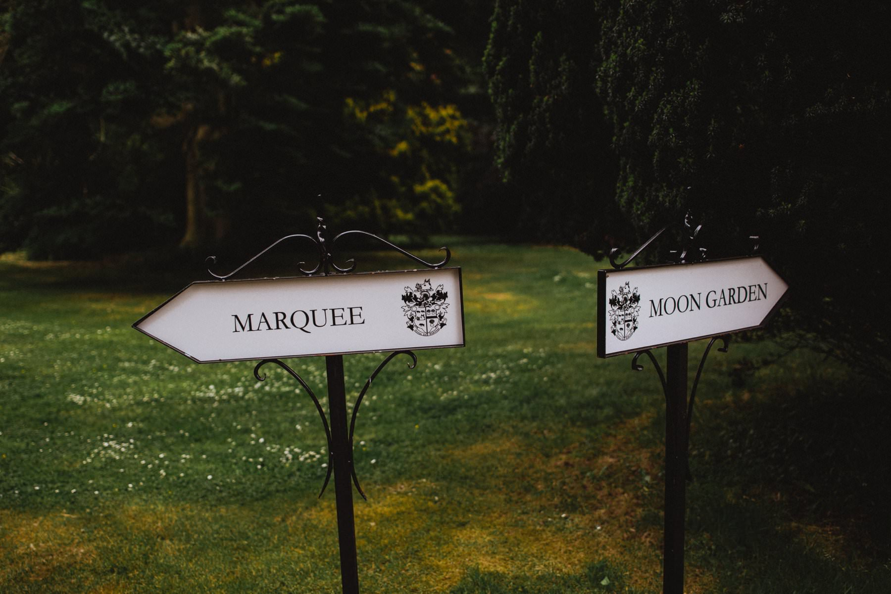 signs at drenagh house estate