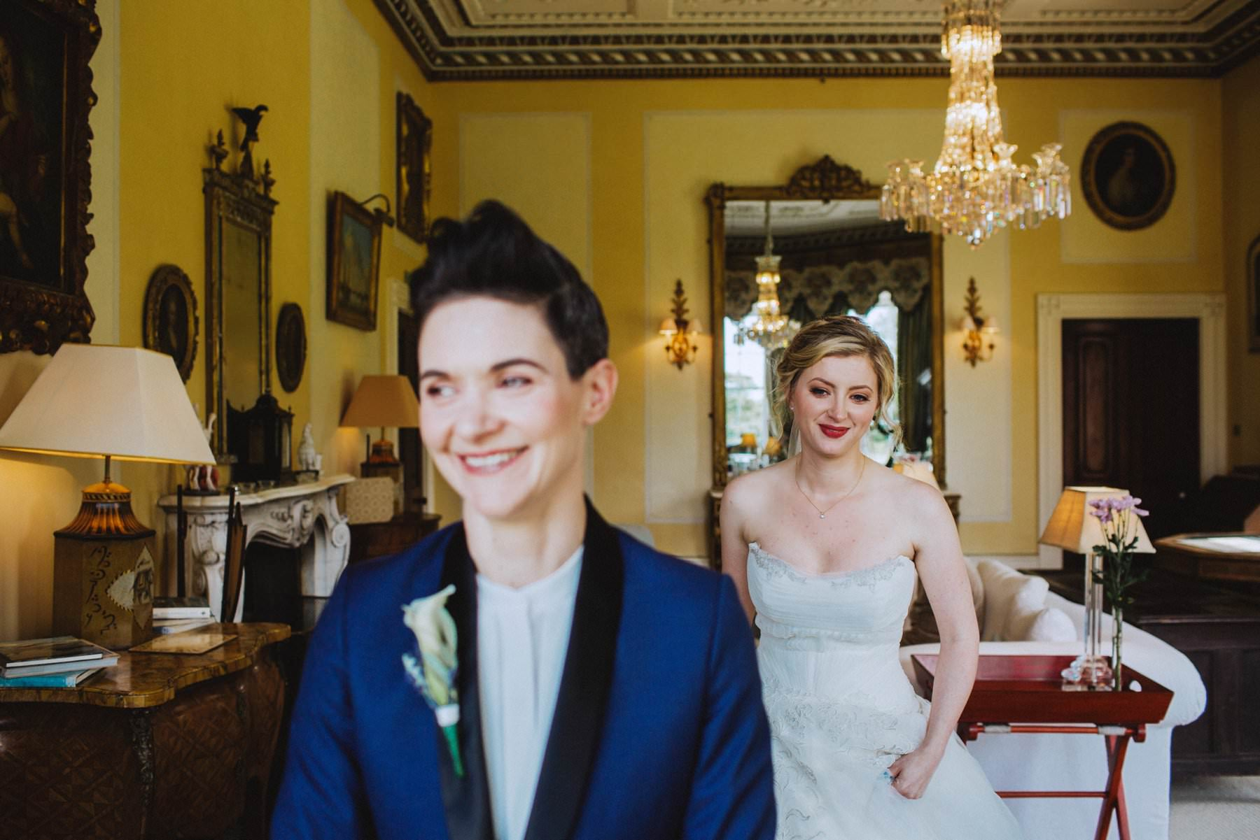 same sex first look in irish country house