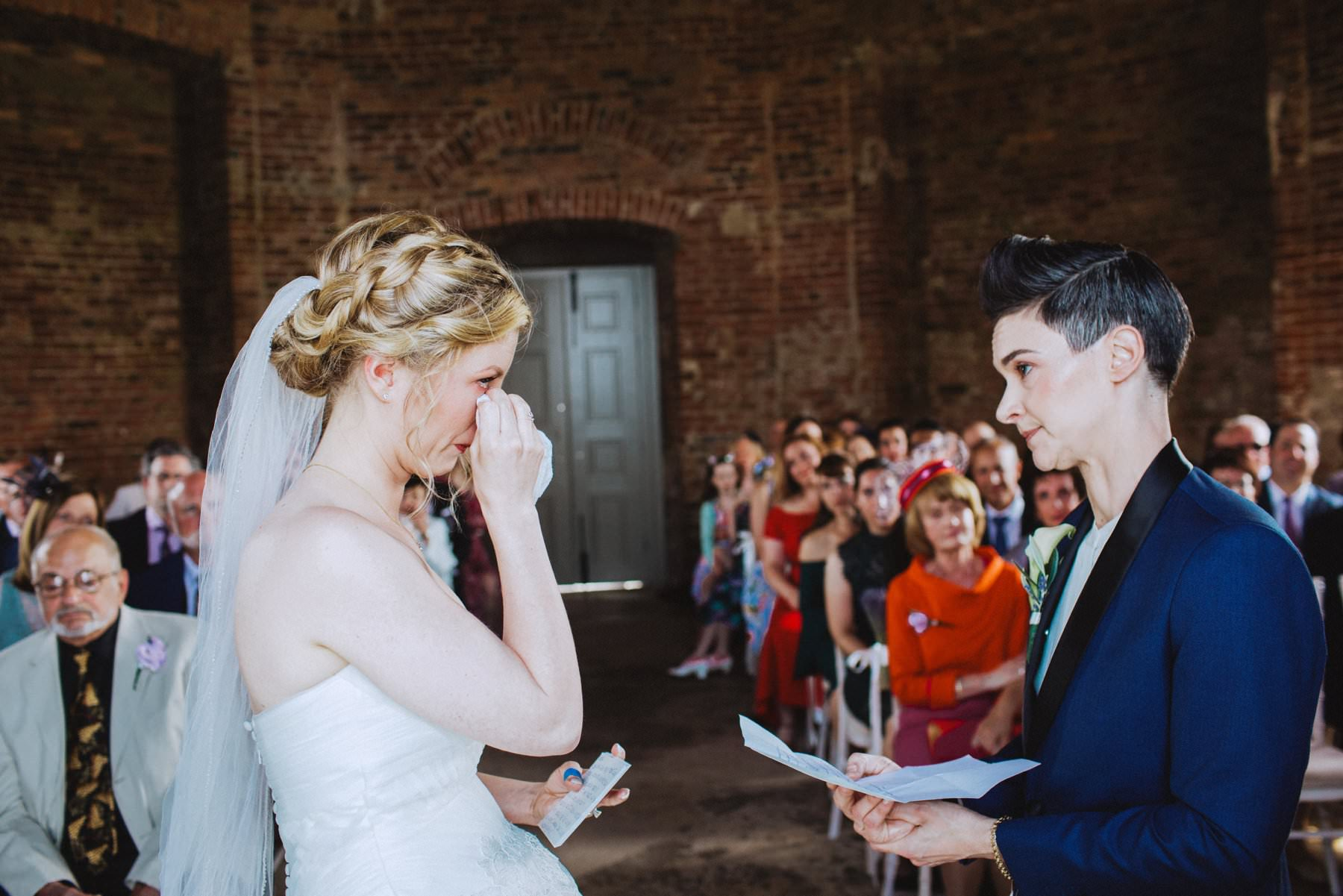 friend led wedding ceremony at mussenden temple northern ireland