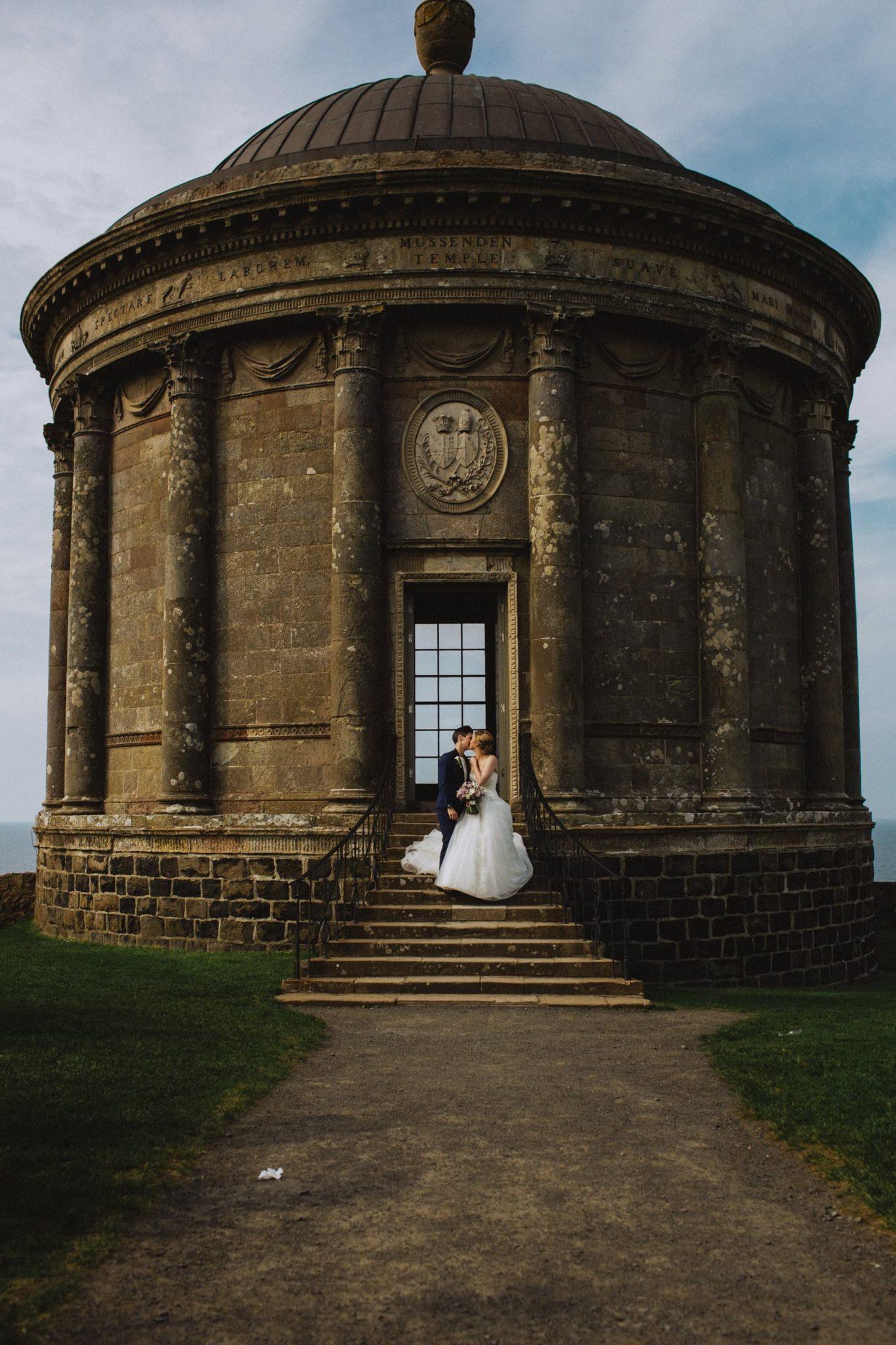 same sex wedding photography mussenden temple northern ireland