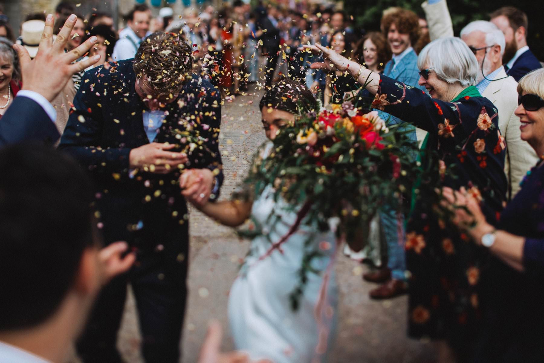 wedding photography bristol confetti