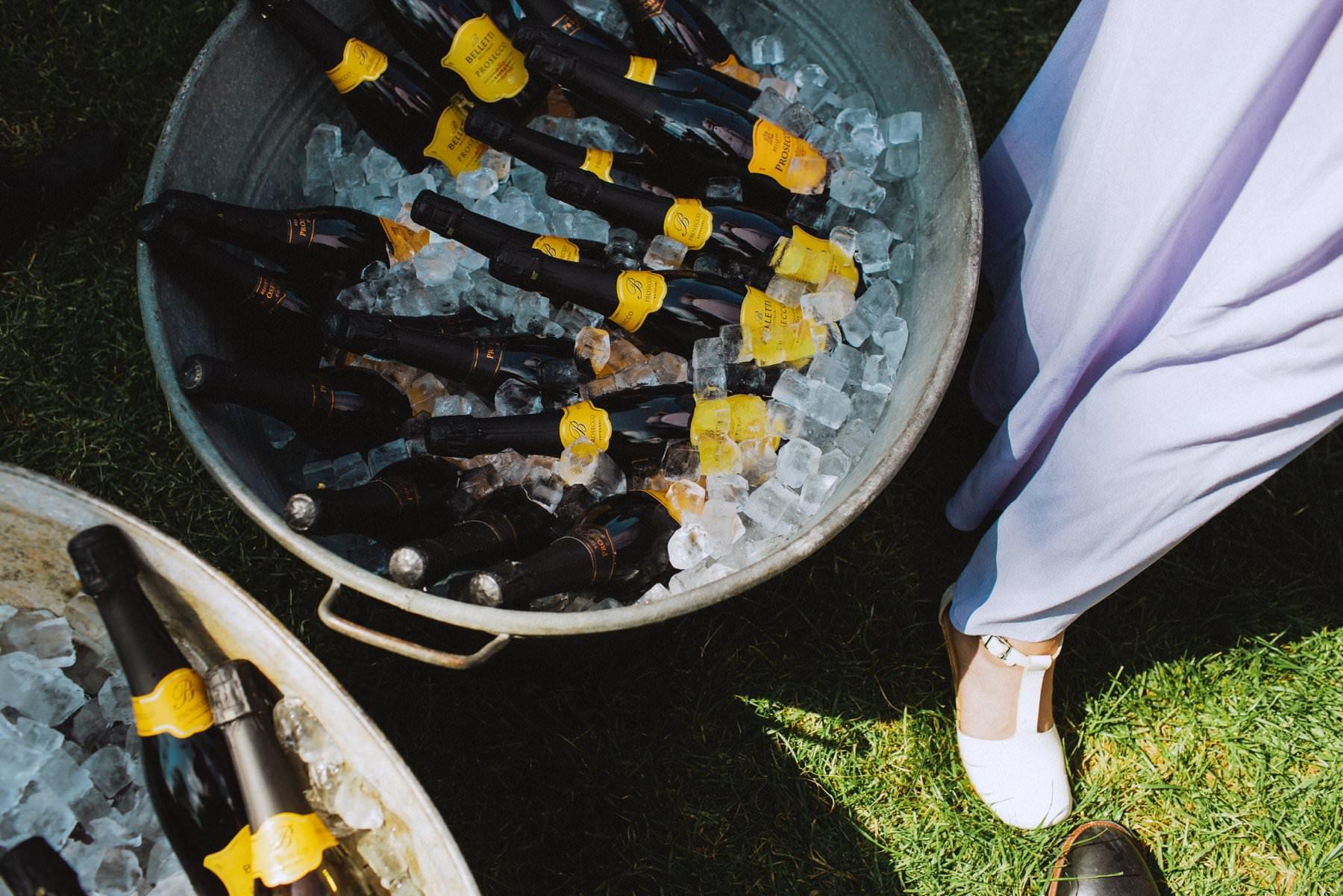 a bath full of champagne for wedding reception in bath england